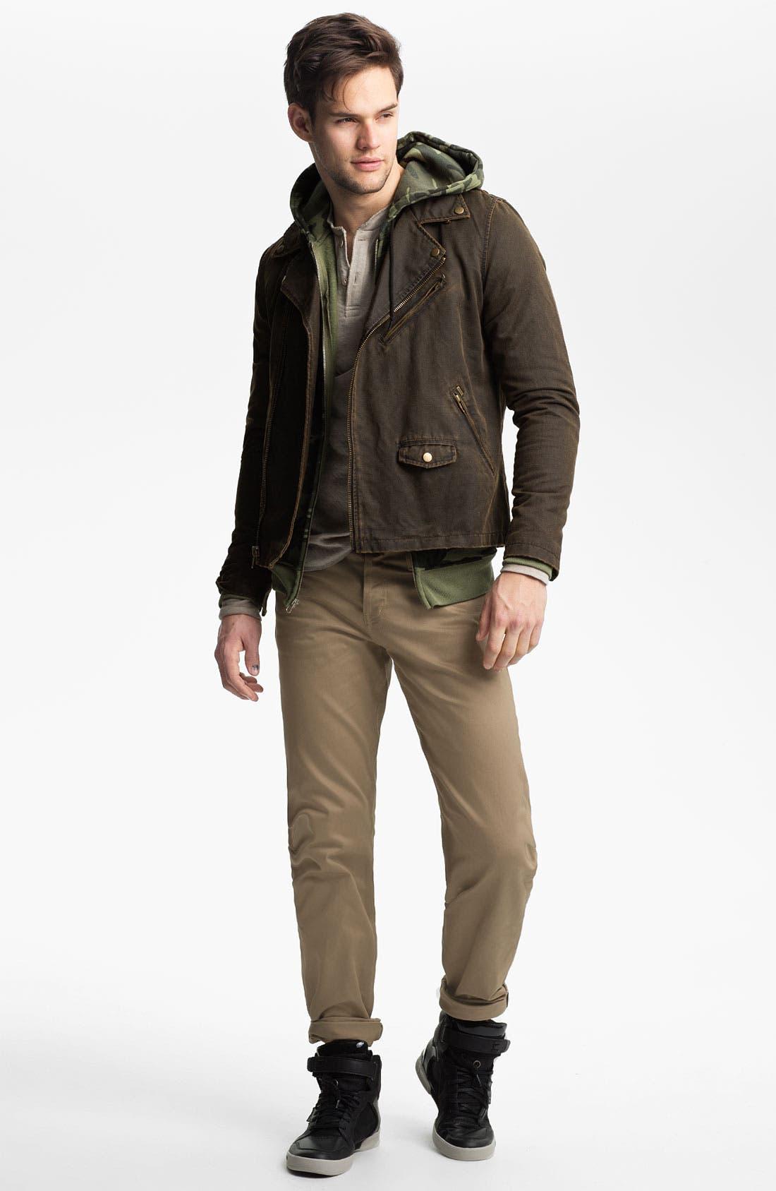 Alternate Image 4  - Obey Coated Moto Jacket