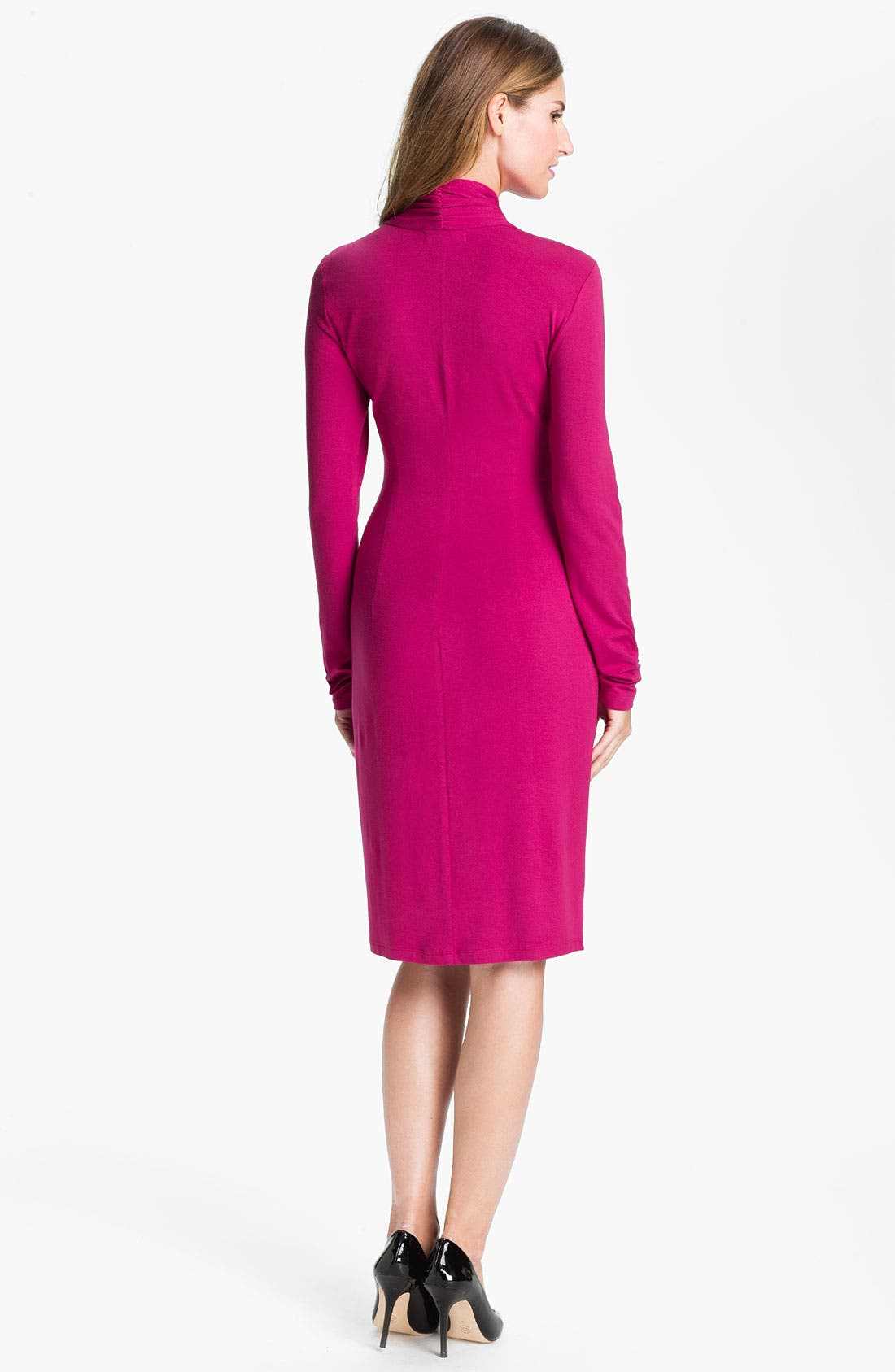 Alternate Image 2  - Karen Kane Surplice Pleated Dress (Online Exclusive)