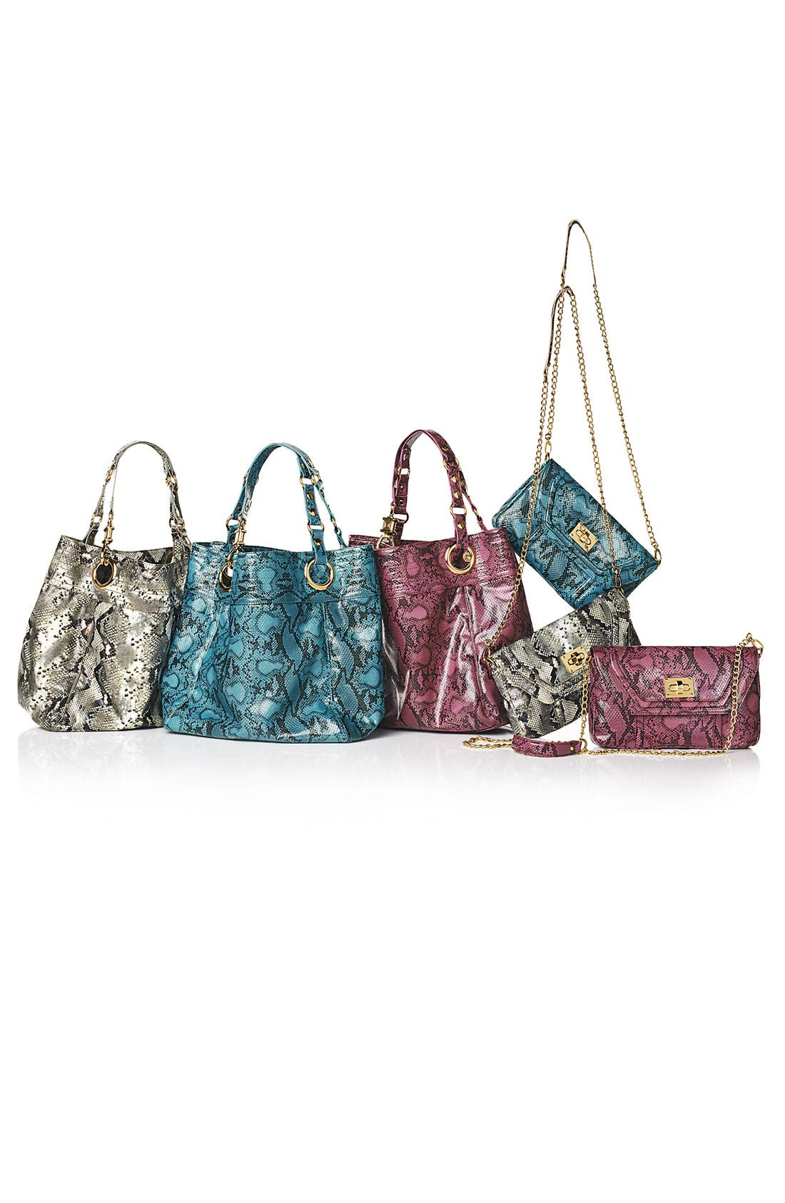 Alternate Image 3  - Steven by Steve Madden 'Candy Coated' Snake Embossed Tote