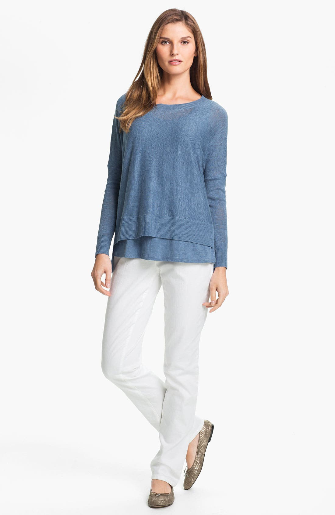 Alternate Image 4  - Eileen Fisher Lightweight Linen Tunic