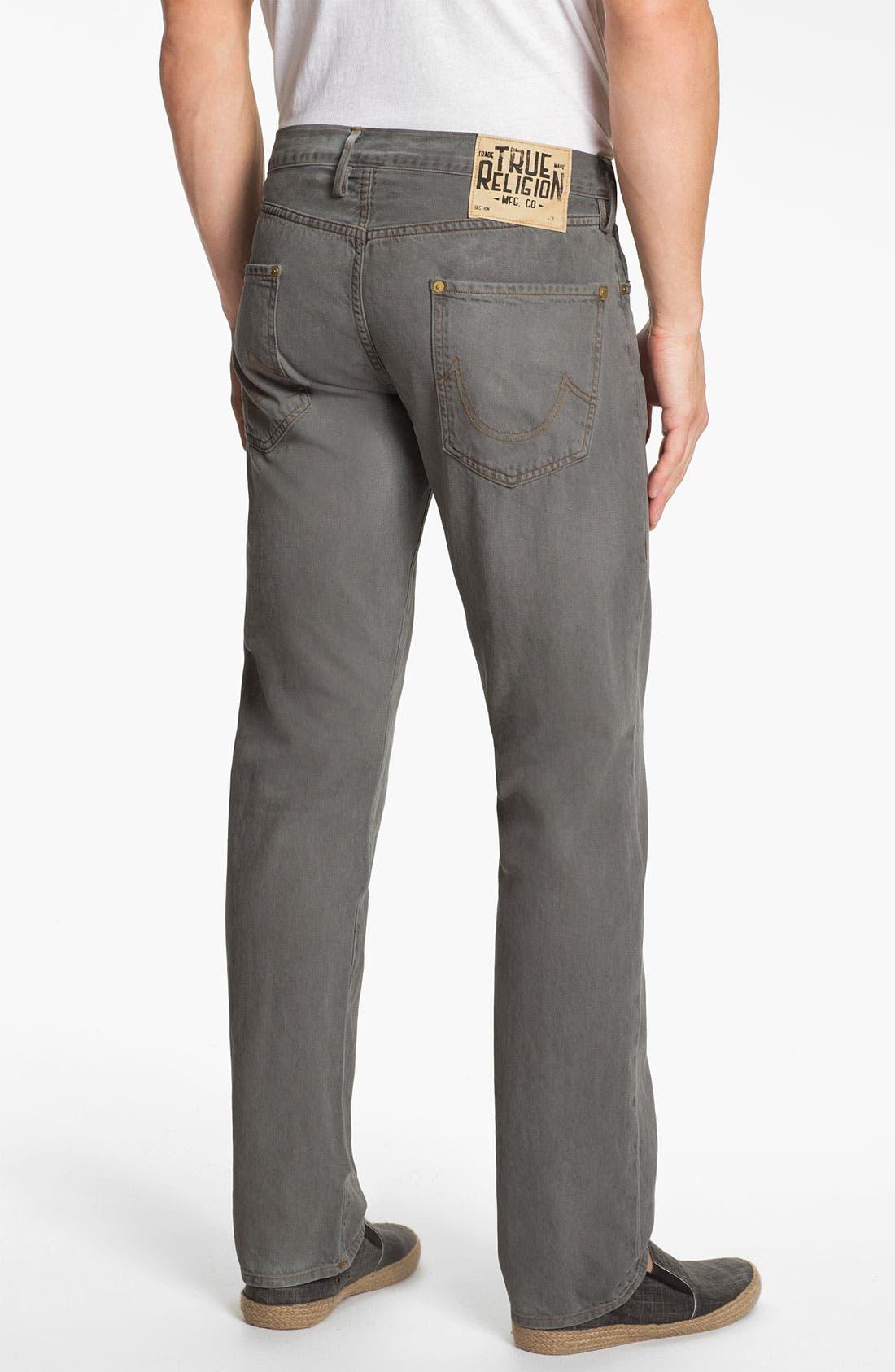 Main Image - True Religion Brand Jeans 'Geno Blue Collar Crossroads' Slim Straight Leg Jeans (Smoke Stack)