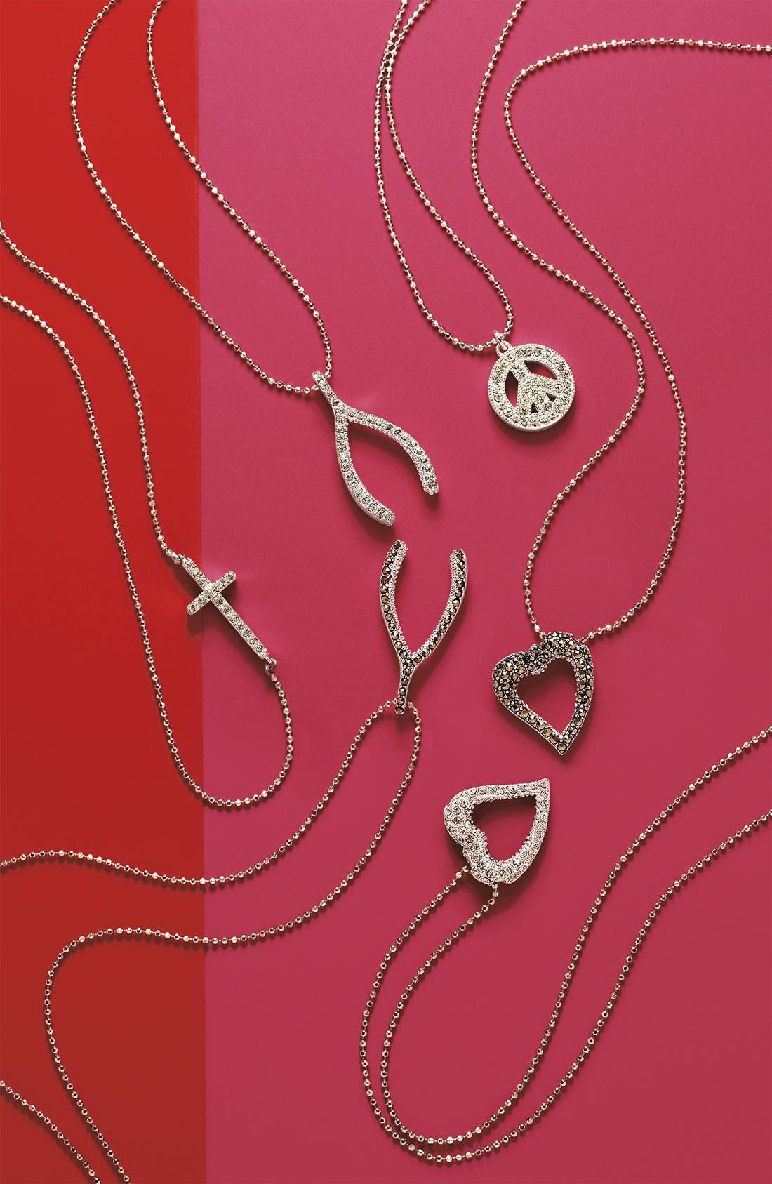Alternate Image 3  - Judith Jack Reversible Pavé Heart Pendant Necklace