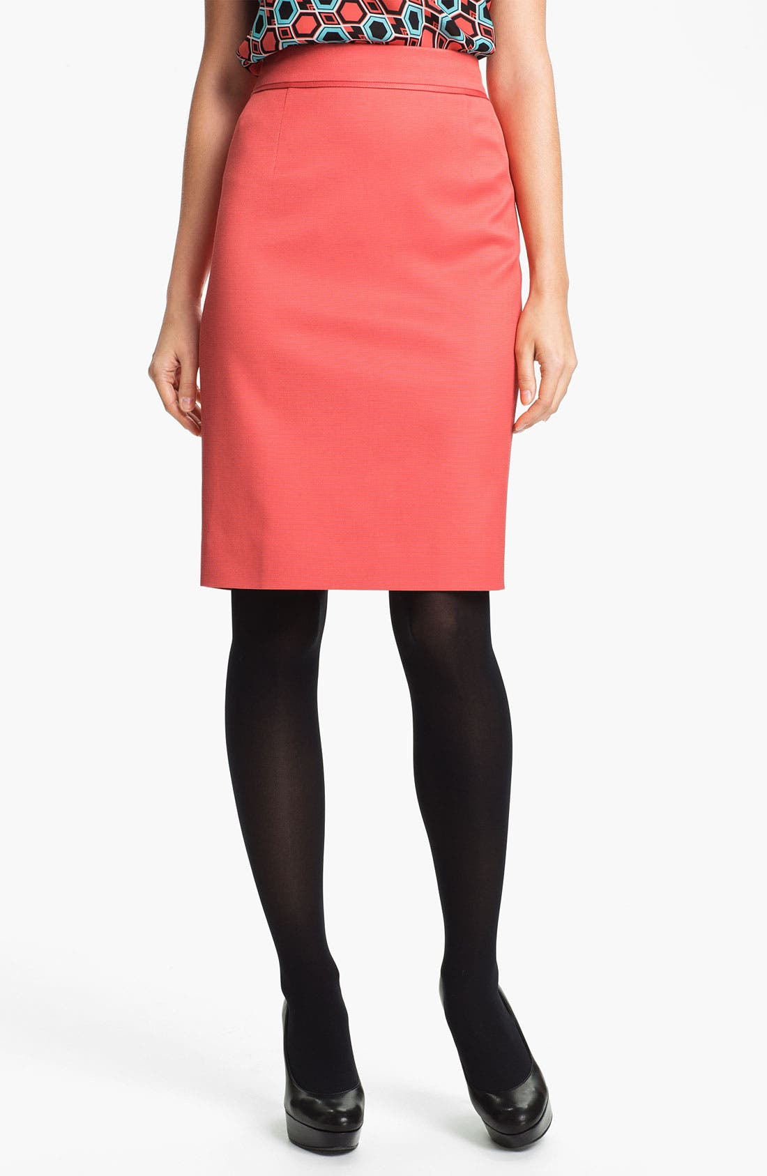 Alternate Image 1 Selected - Classiques Entier® 'Taylor - Dobby' Skirt