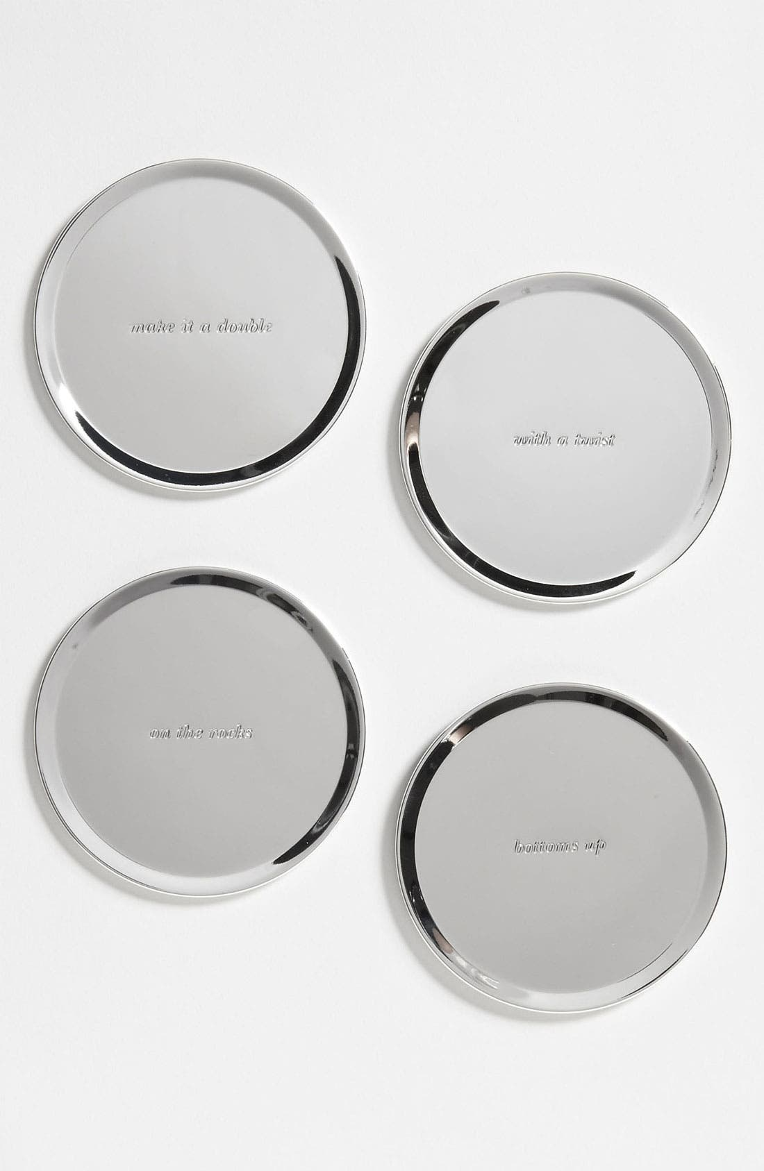 Main Image - kate spade new york set of 4 silver street coasters