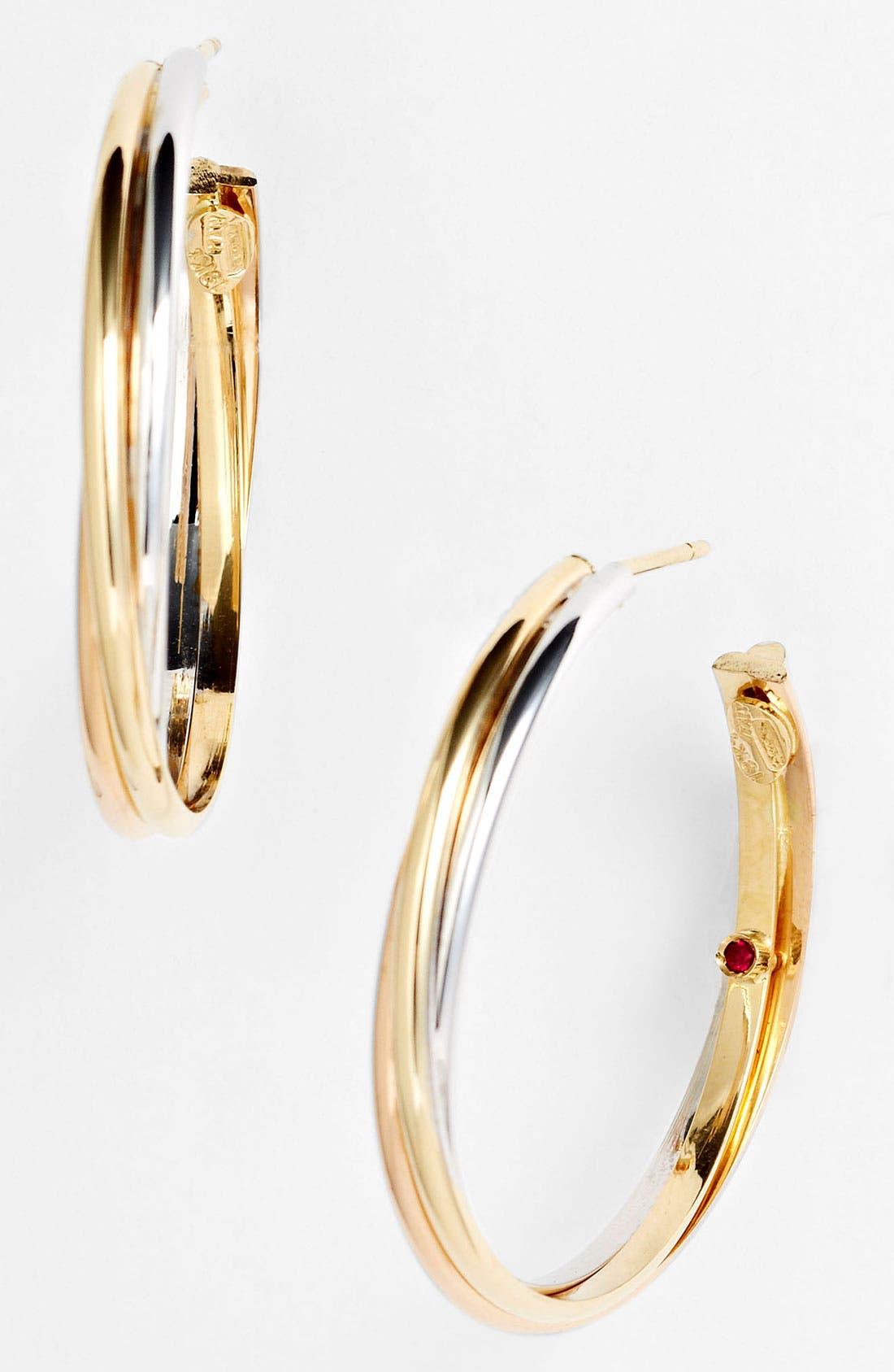 Alternate Image 1 Selected - Roberto Coin Twisted Hoop Earrings