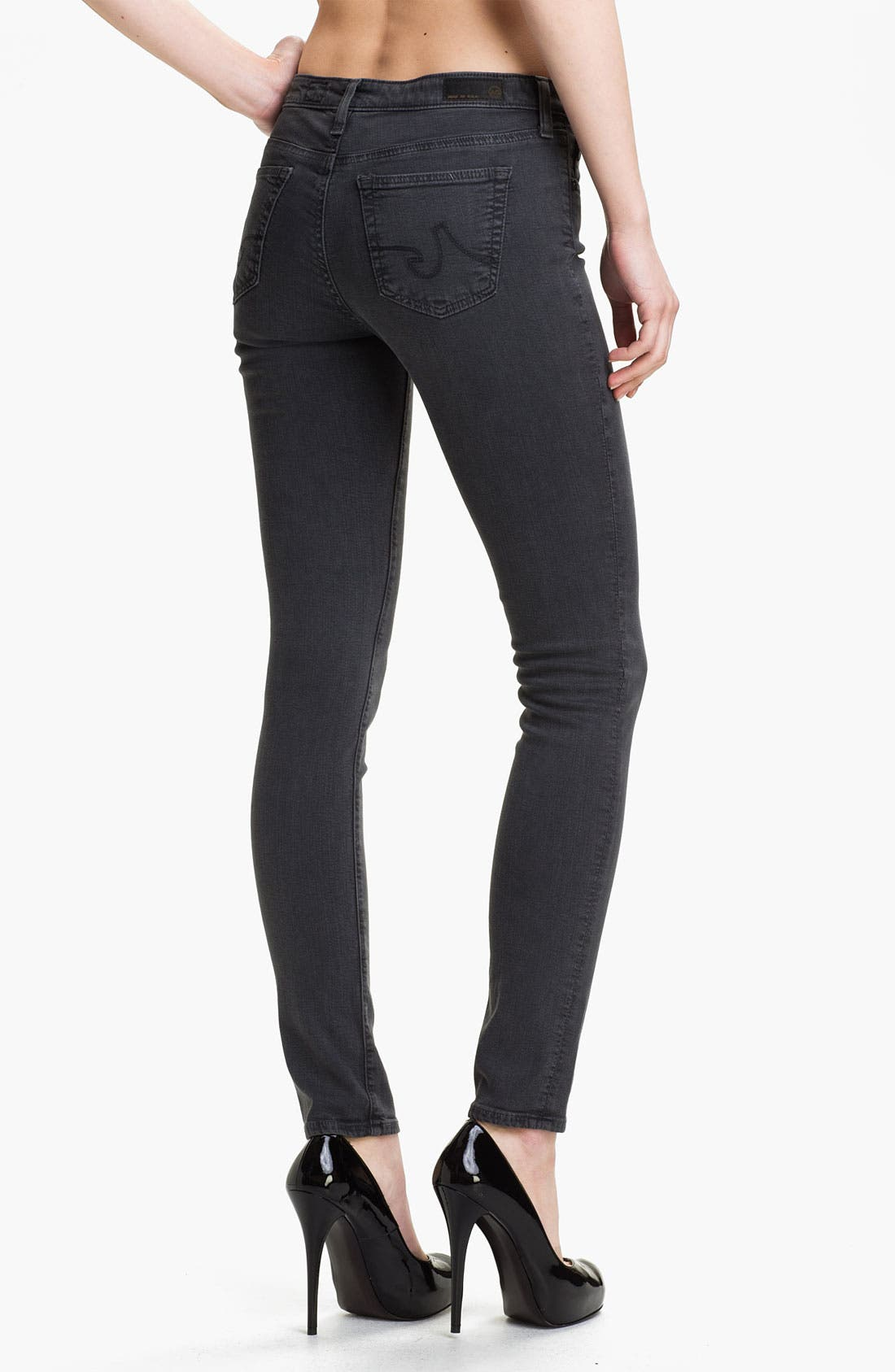 Alternate Image 2  - AG Jeans 'The Legging' Super Skinny Jeans (Grey)