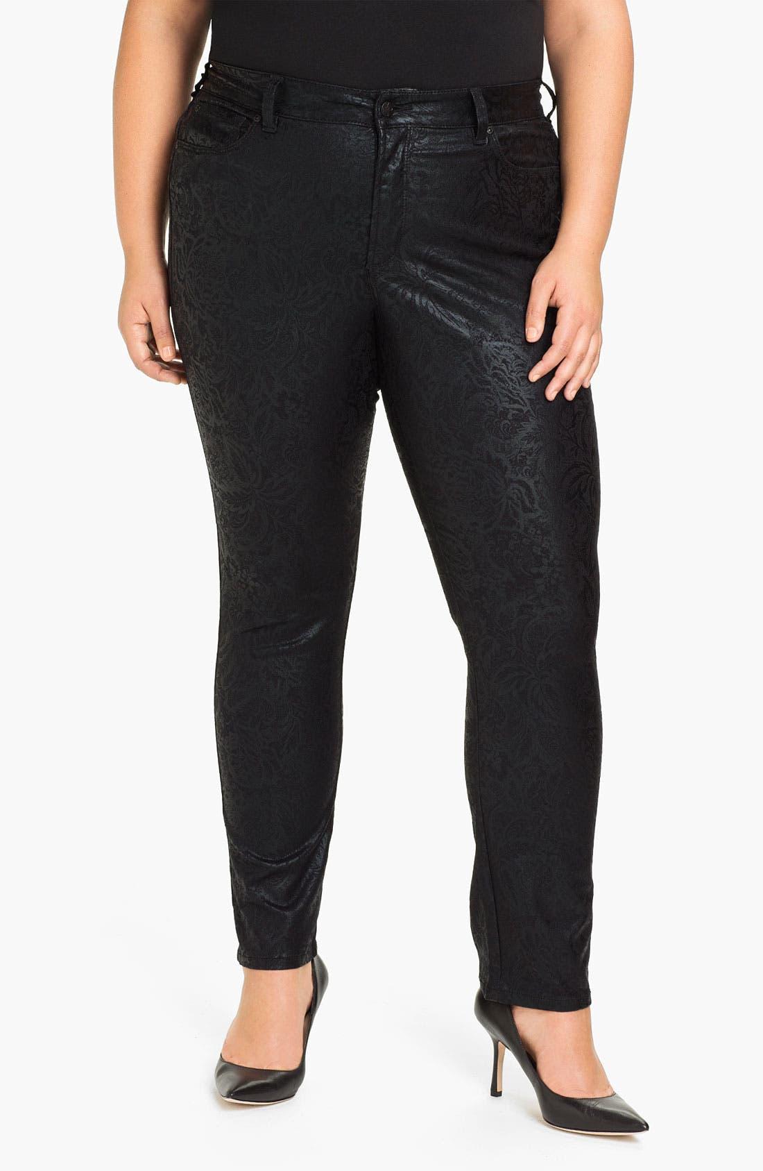 Main Image - NYDJ 'Sheri - Gilded Lily' Stretch Denim Jeans (Plus)