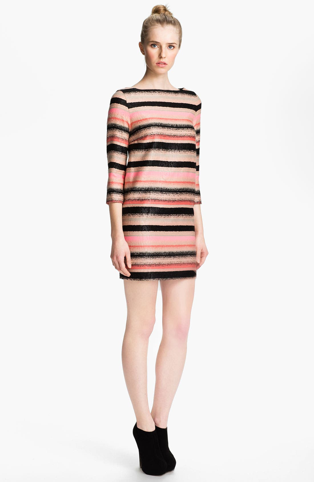 Main Image - MSGM Stripe Tweed Shift Dress