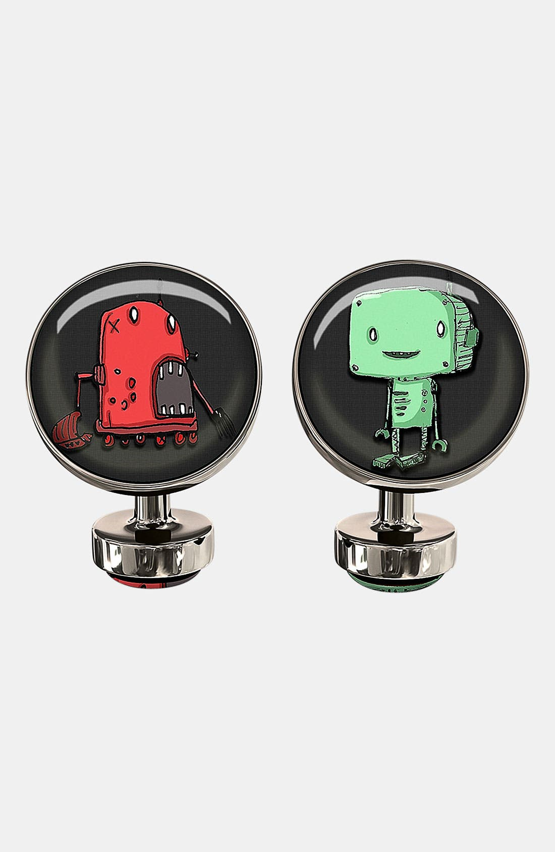 Main Image - Würkin Stiffs 'Robot Breath' Round Cuff Links