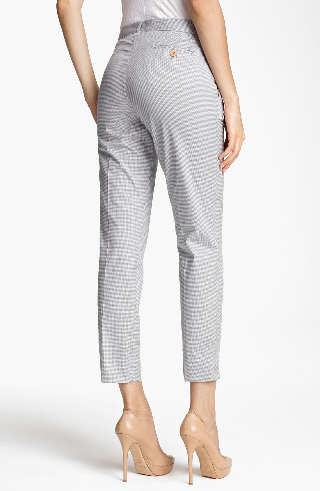Alternate Image 2  - Fabiana Filippi Cotton Vichy Crop Pants