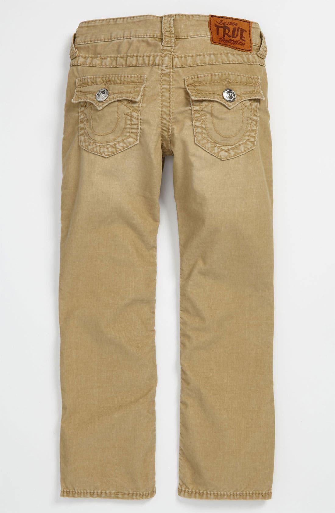 Alternate Image 1 Selected - True Religion Brand Jeans 'Jack' Straight Leg Corduroy Jeans (Big Boys)