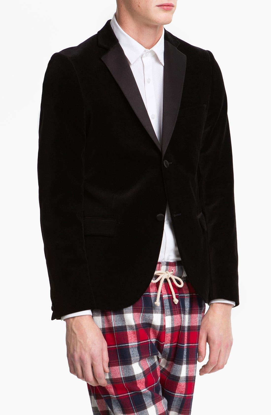 Alternate Image 1 Selected - Topman Velvet Blazer