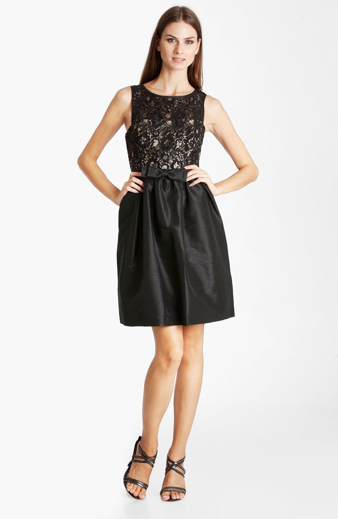 Main Image - JS Boutique Beaded Fit & Flare Dress