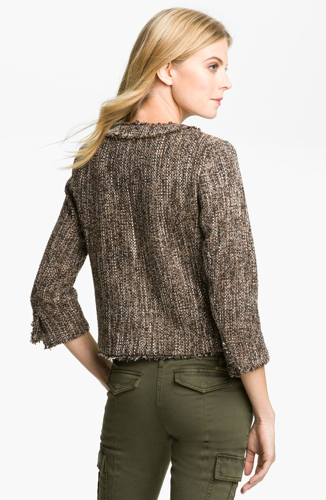 Alternate Image 2  - MICHAEL Michael Kors Tweed Knit Jacket (Petite)