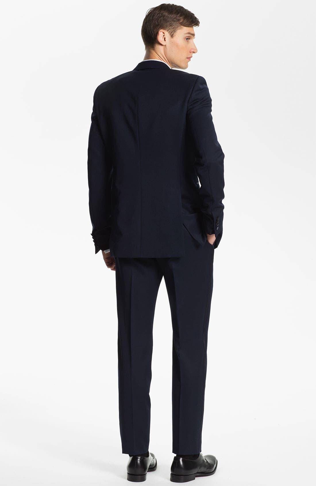 Alternate Image 5  - Burberry Prorsum Wool Tuxedo Pants