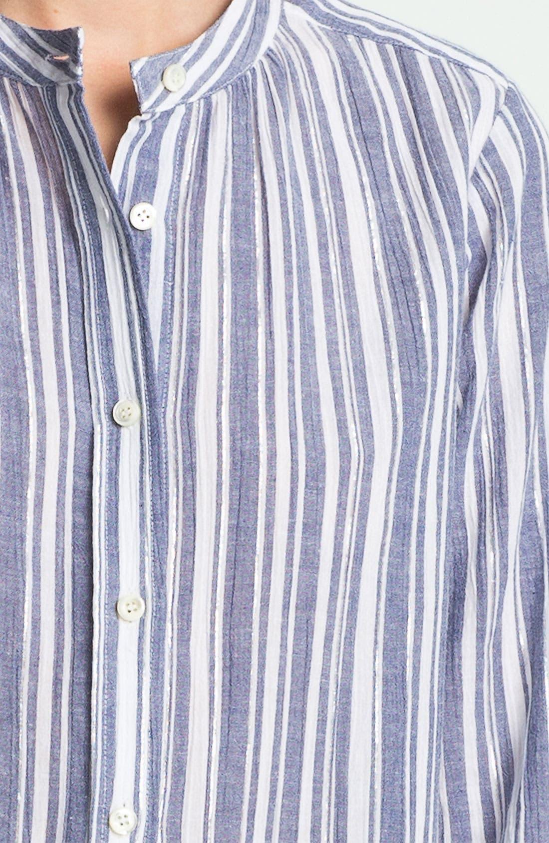 Alternate Image 3  - A.P.C. Metallic Stripe Blouse