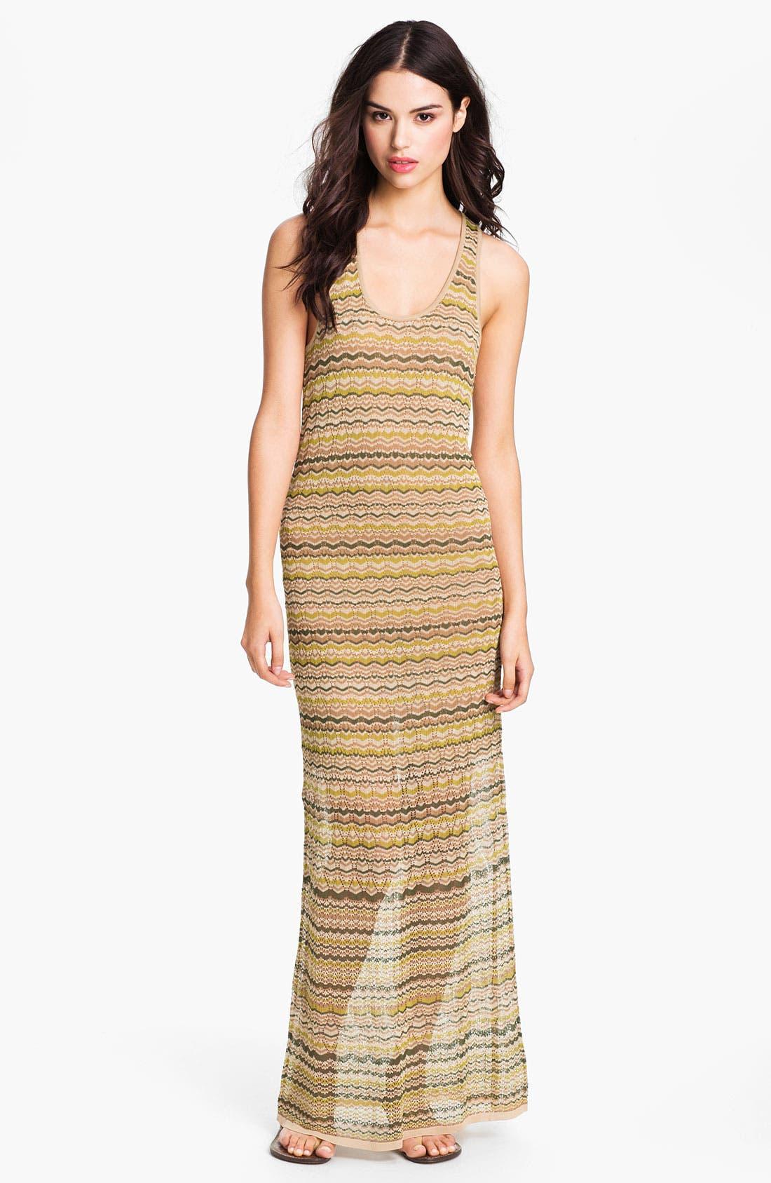 Main Image - Haute Hippie Flame Knit Racerback Maxi Dress