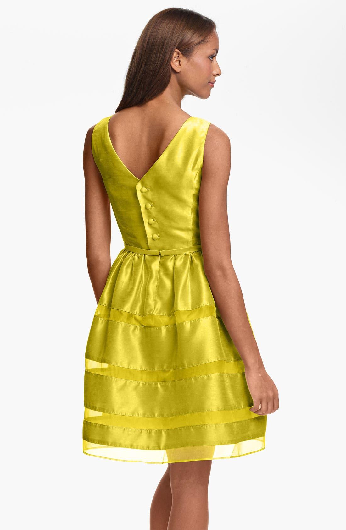 Alternate Image 2  - Taylor Dresses Tonal Stripe Fit & Flare Dress