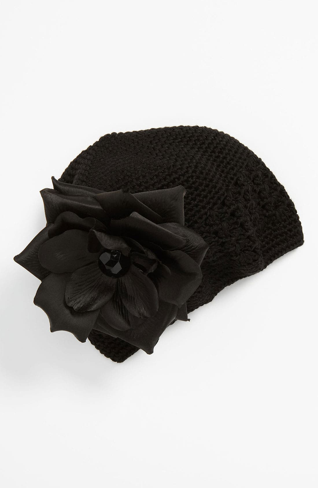 Alternate Image 1 Selected - PLH Bows & Laces Crochet Hat (Baby)