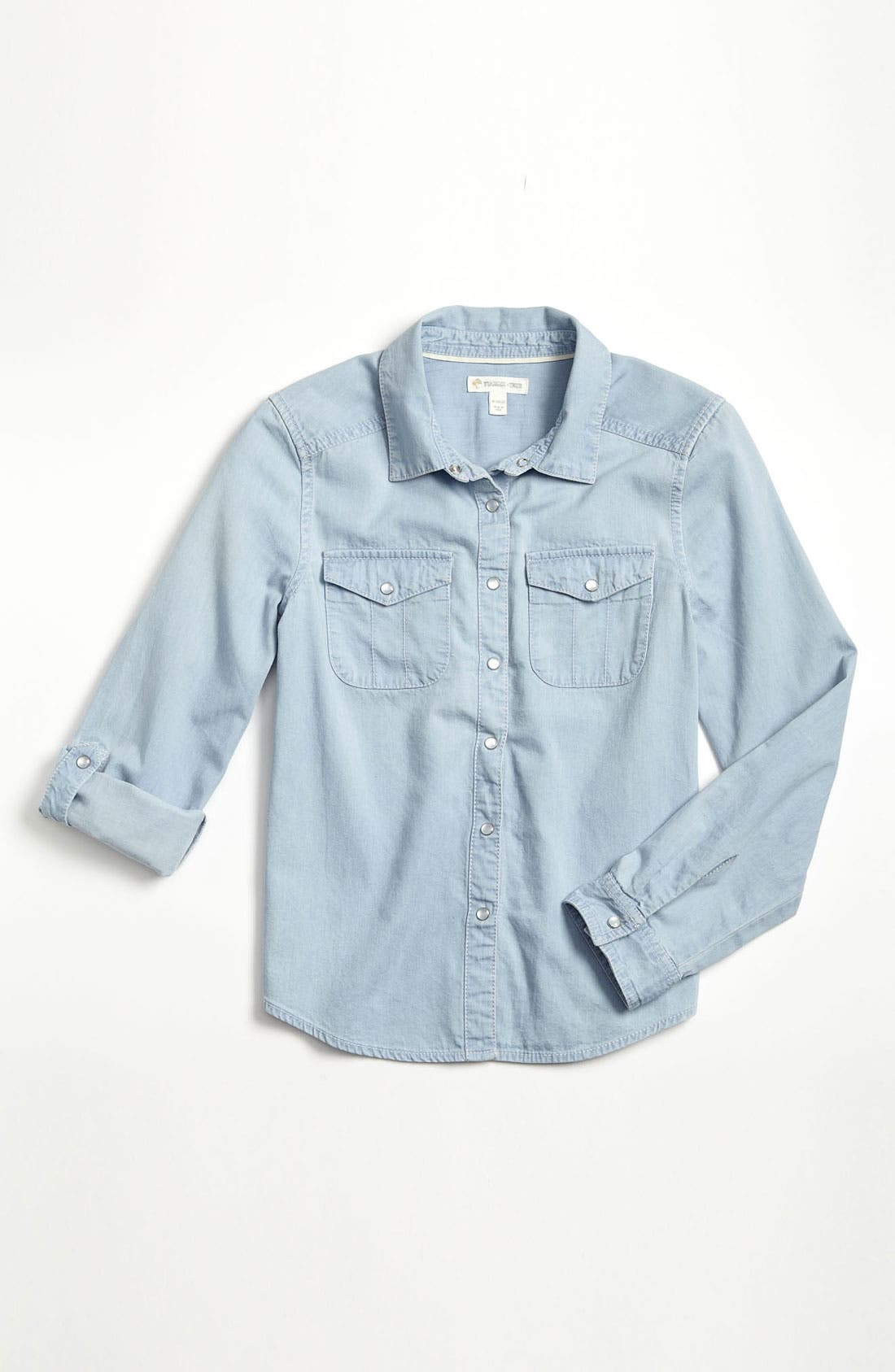 Main Image - Tucker + Tate 'Angie' Chambray Shirt (Big Girls)