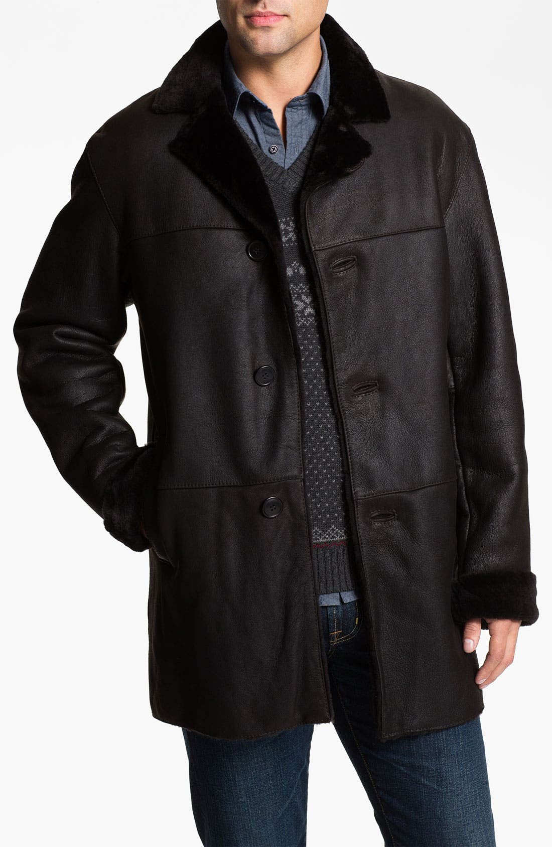 Alternate Image 1 Selected - Blue Duck Leather Coat