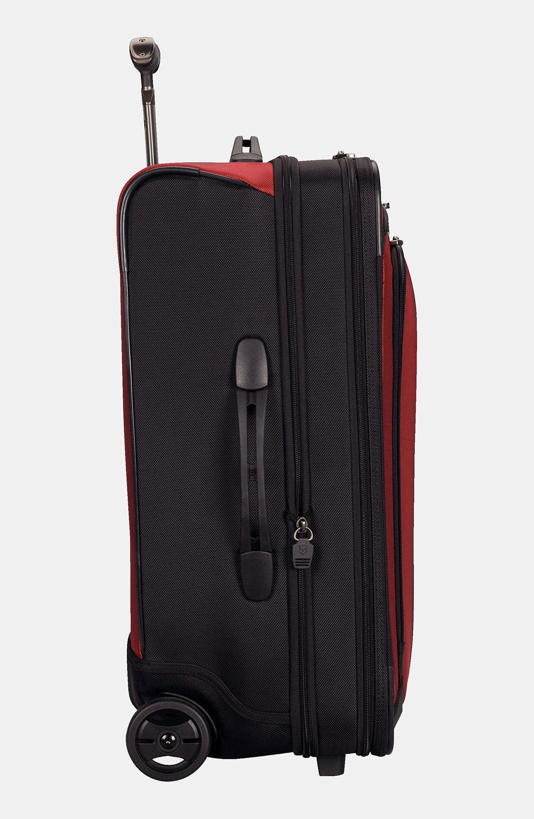 'Werks - Traveler' Rolling Carry-On,                             Alternate thumbnail 2, color,                             Red/ Black