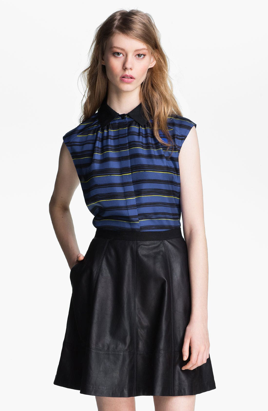 Alternate Image 2  - Miss Wu 'Lush' Silk Twill Blouse (Nordstrom Exclusive)