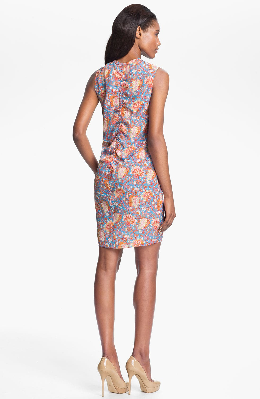 Alternate Image 2  - Carven Print Tie Front Dress