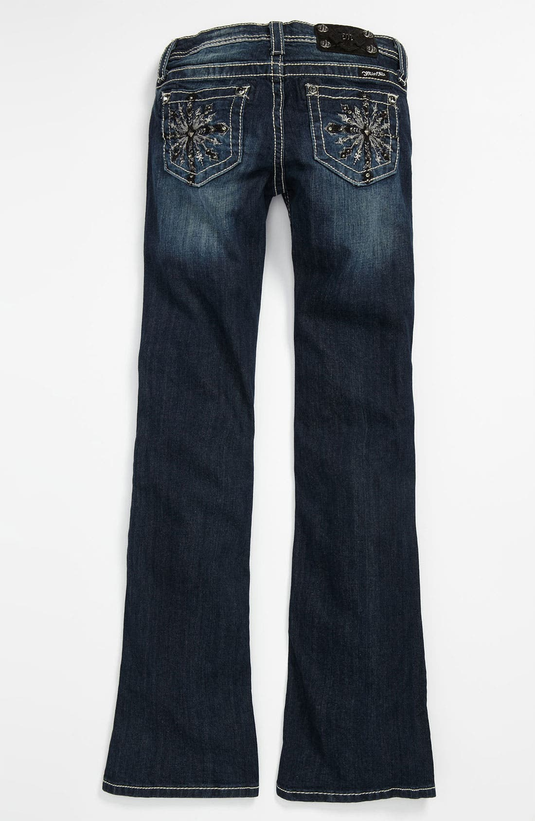 Alternate Image 1 Selected - Miss Me Embellished Bootcut Jeans (Big Girls)