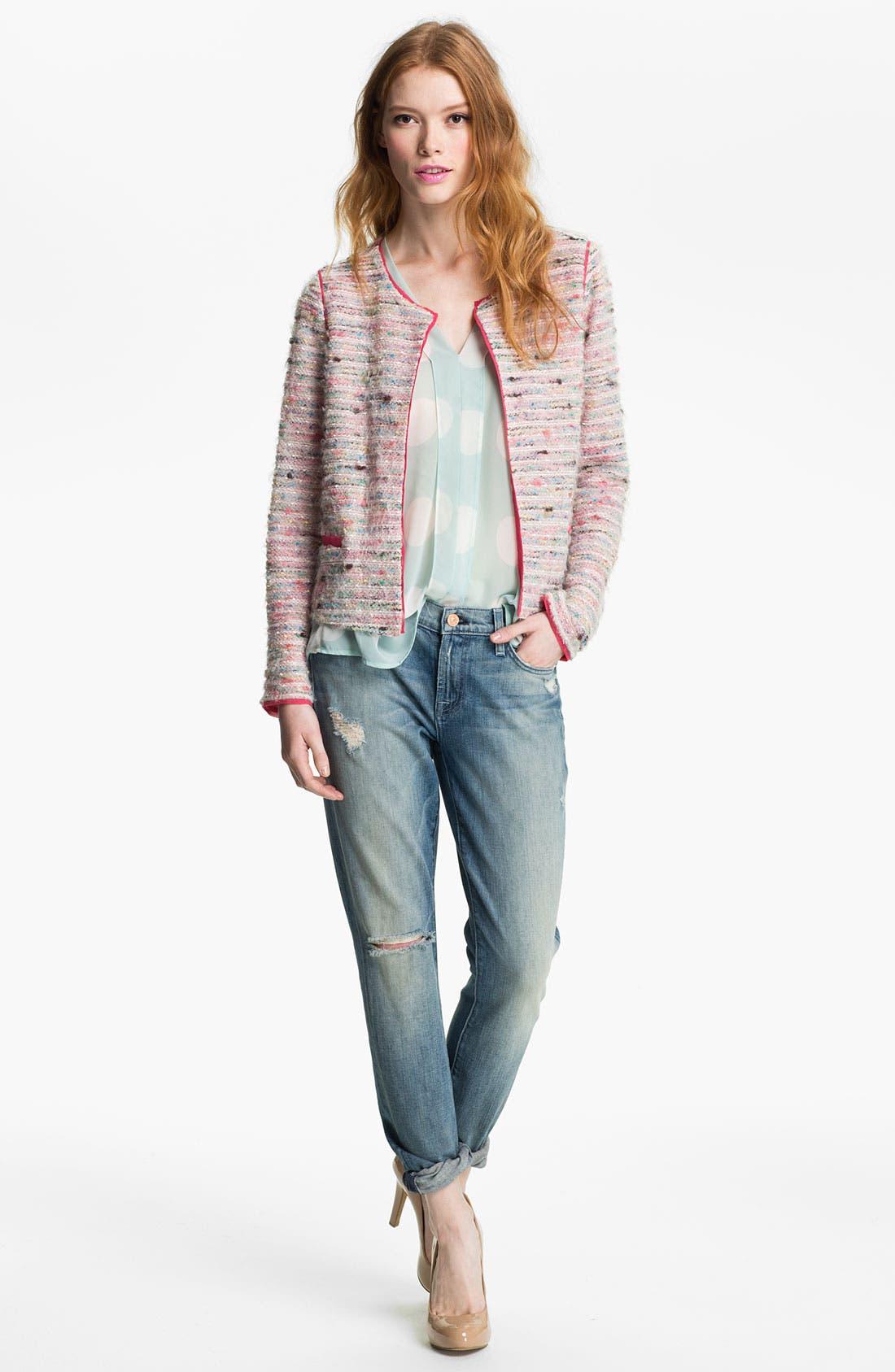 Main Image - Willow & Clay 'Shine' Rainbow Bouclé Jacket
