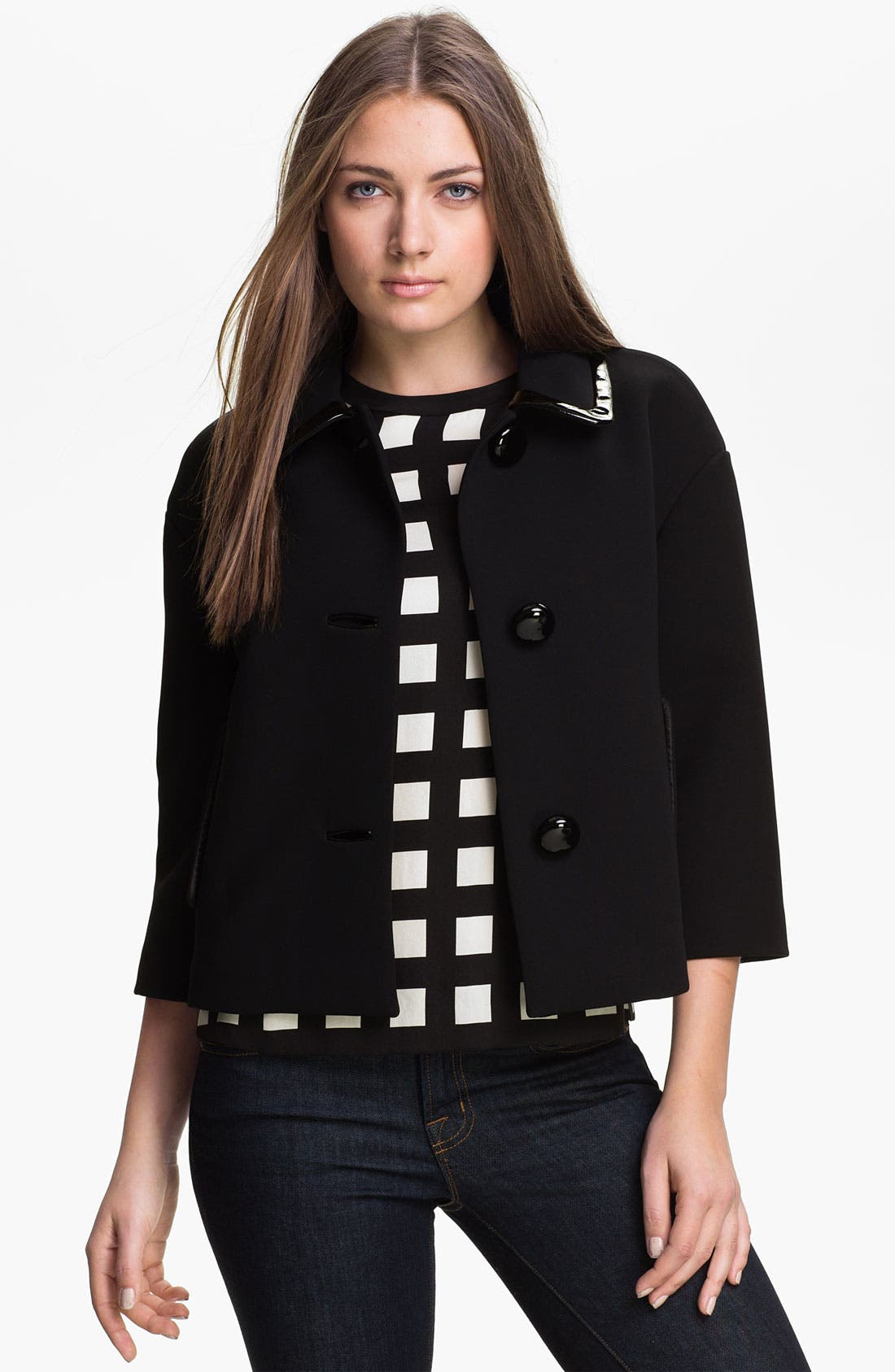 Alternate Image 1 Selected - kate spade new york 'ellie' crop jacket