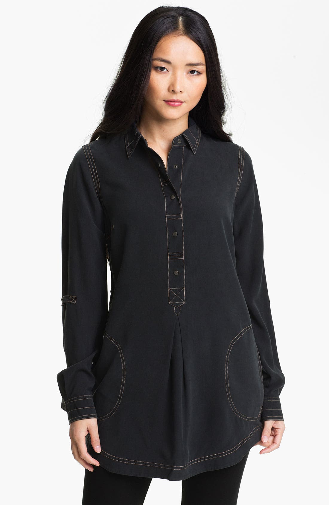 Alternate Image 1 Selected - Go by Go Silk 'Go Popover' Shirt (Online Only)