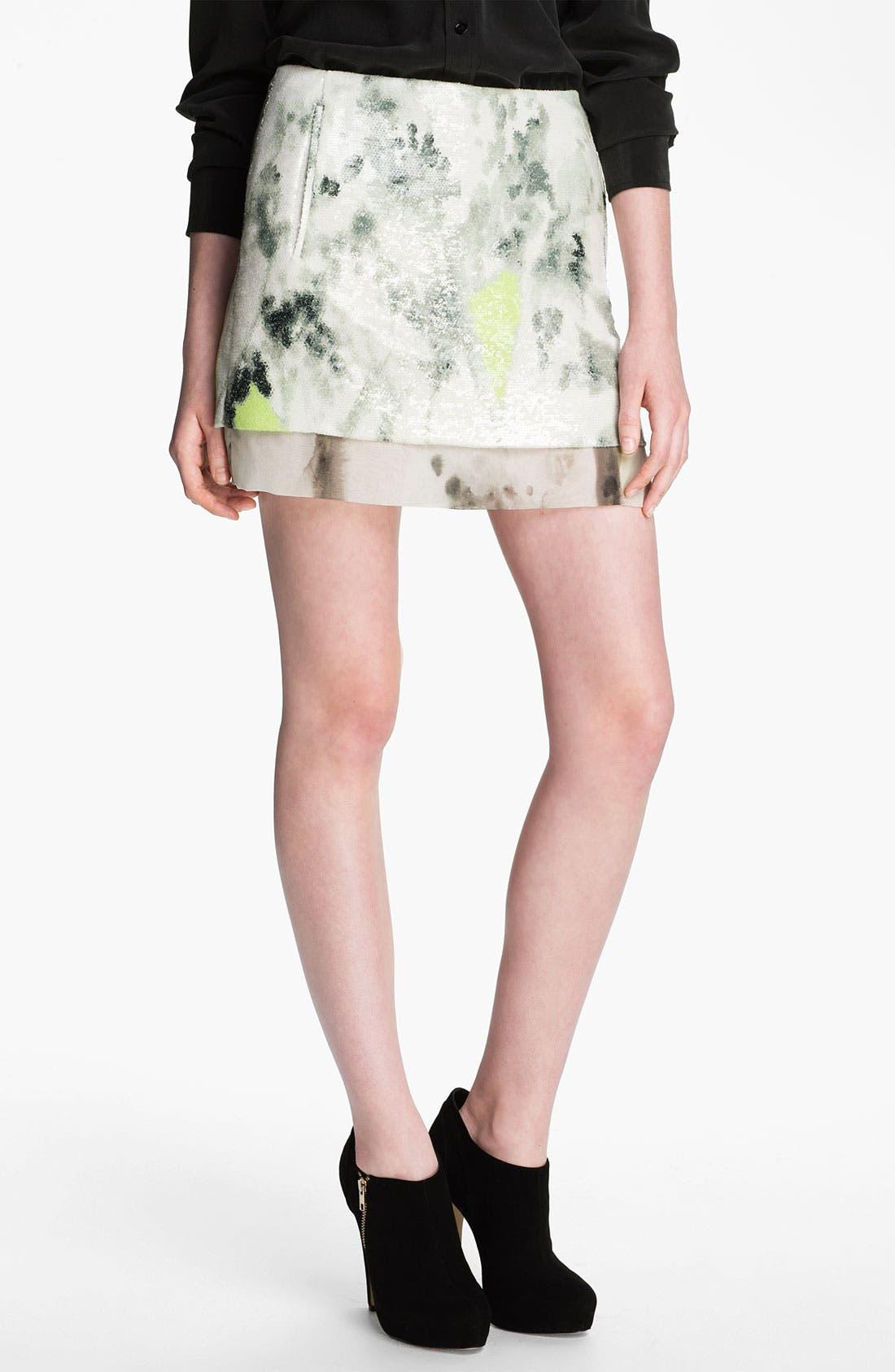 Alternate Image 1 Selected - Diane von Furstenberg 'Elley' Sequin Print Miniskirt