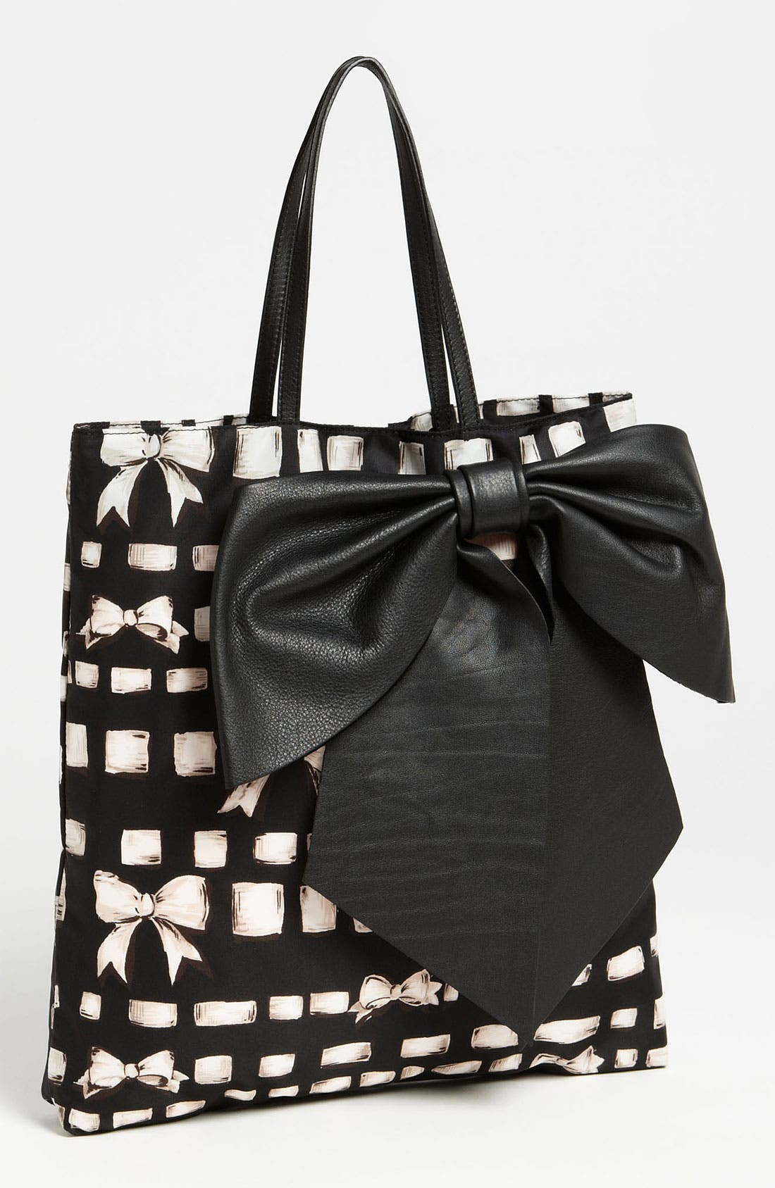 Alternate Image 1 Selected - RED Valentino 'Bow - Ribbon & Bow' Print Tote