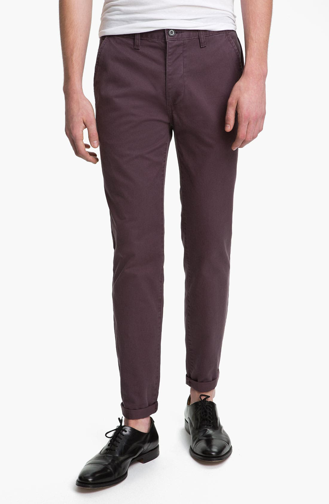 Alternate Image 1 Selected - Topman 'Fudge Bauer' Skinny Fit Chinos