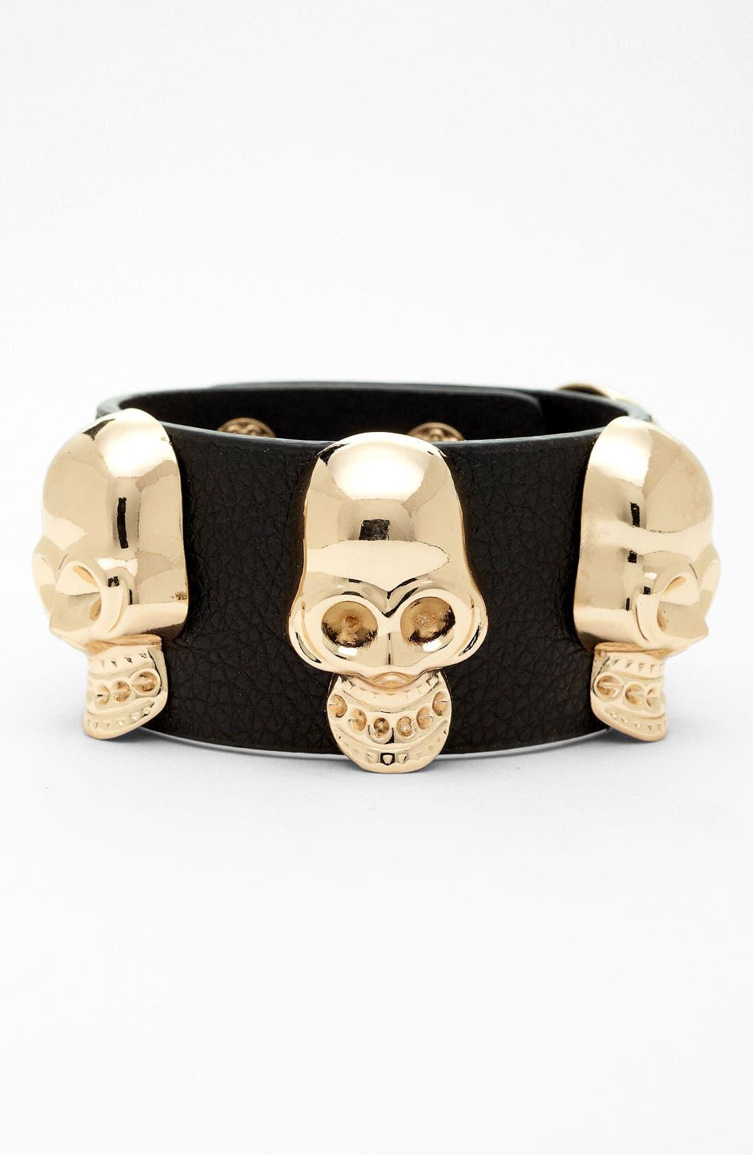 Alternate Image 1 Selected - Cara Skull Bracelet