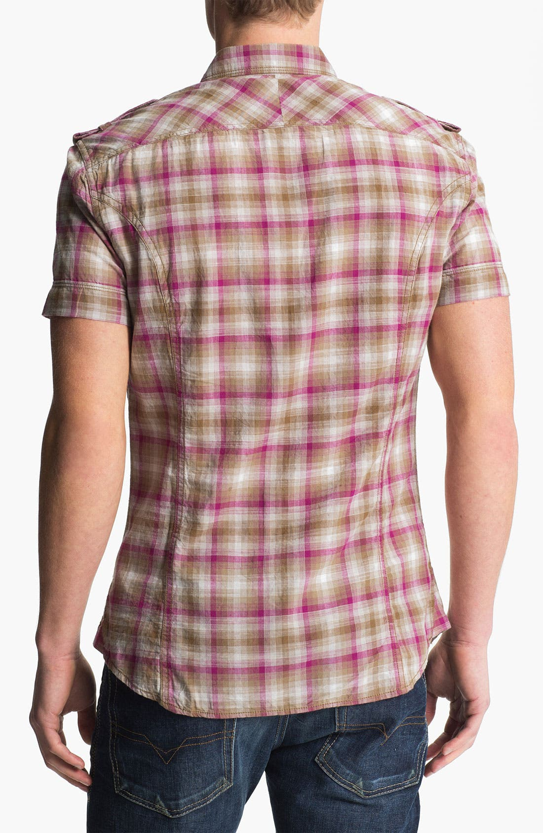 Alternate Image 2  - DIESEL® 'Studder' Plaid Woven Shirt