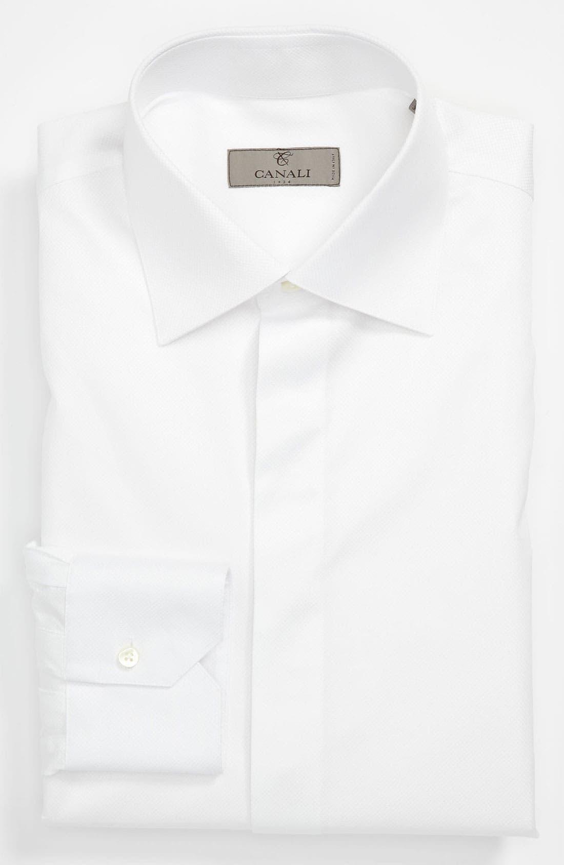 Main Image - Canali Regular Fit Tuxedo Shirt