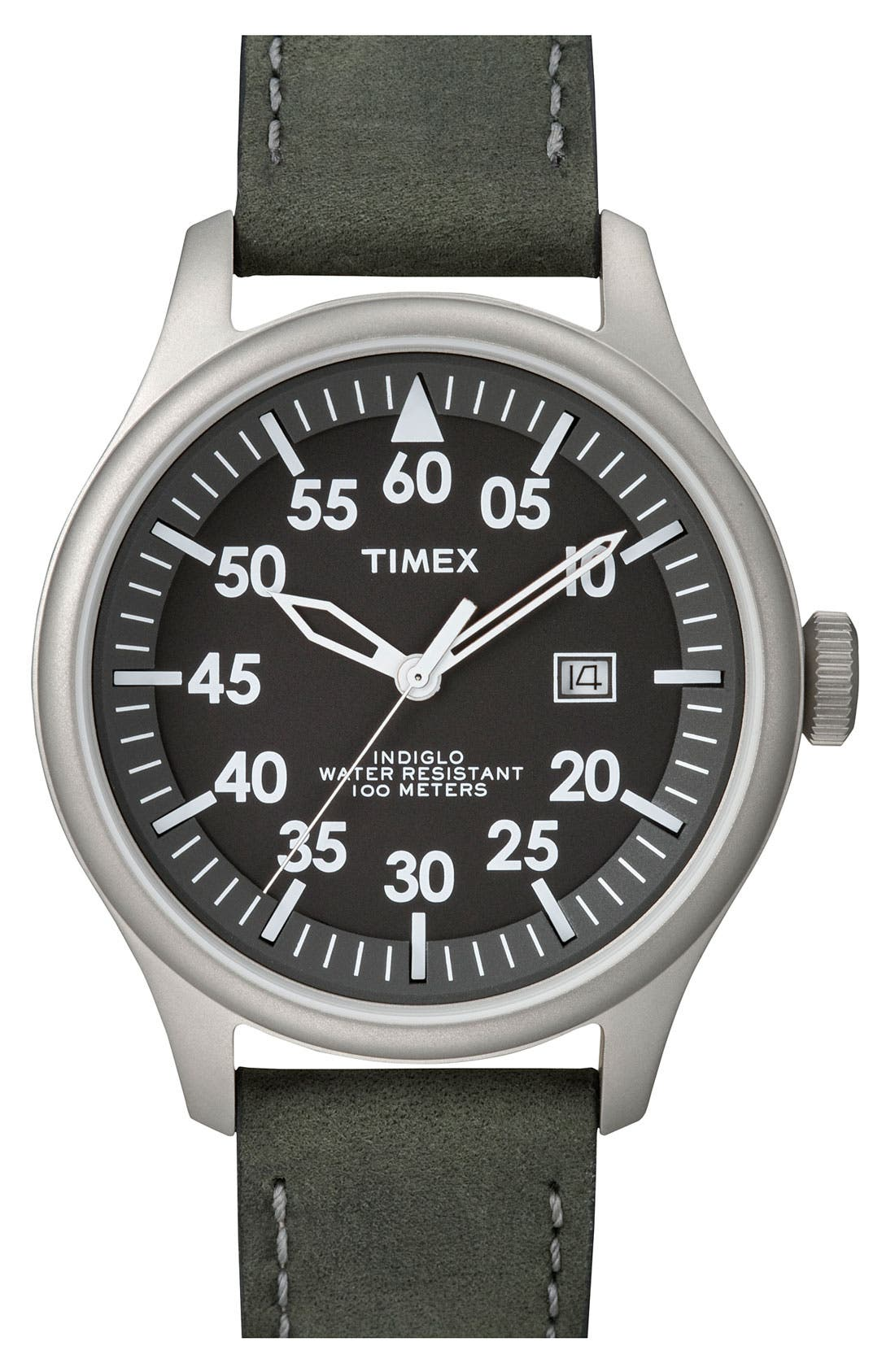 Alternate Image 1 Selected - Timex® 'Casual Vintage' Round Watch
