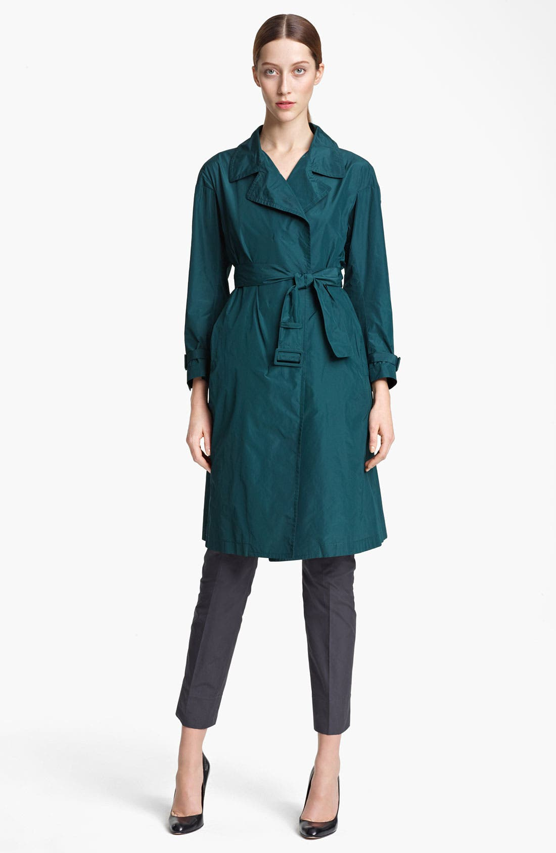 Alternate Image 1 Selected - Jil Sander Belted Technical Taffeta Trench