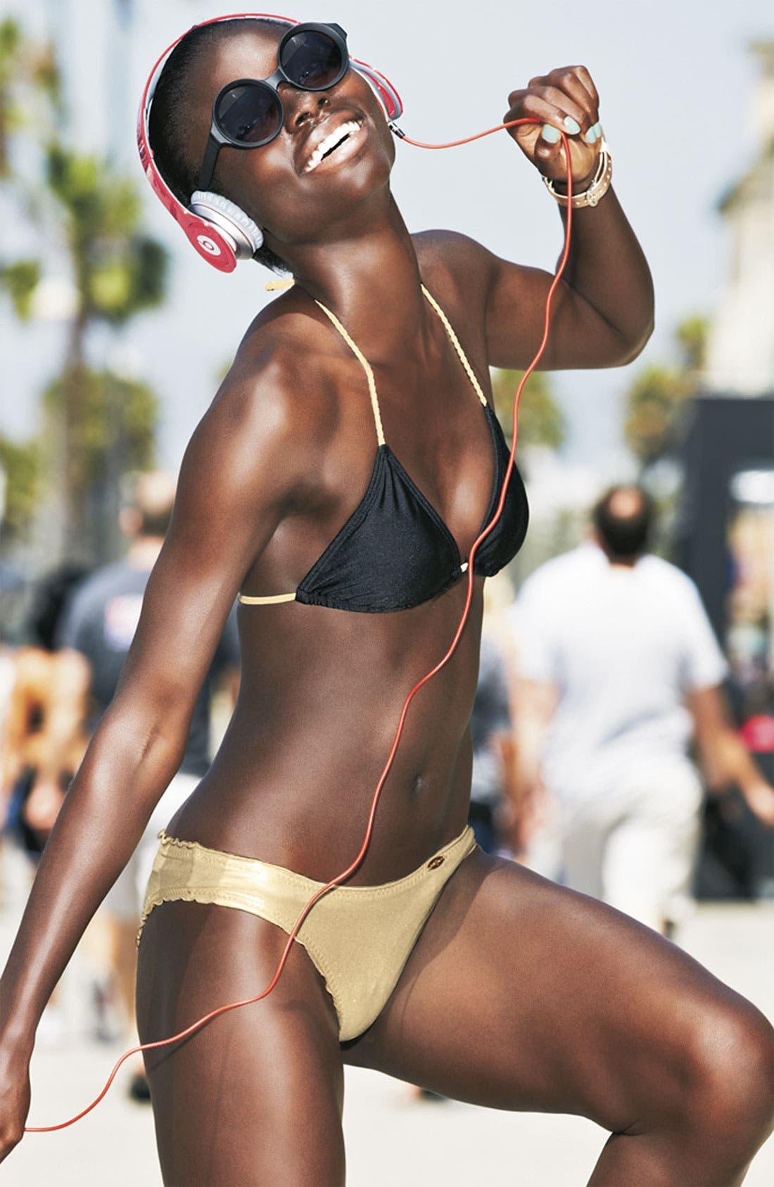 Alternate Image 5  - Luli Fama Braided Strap Triangle Bikini Top