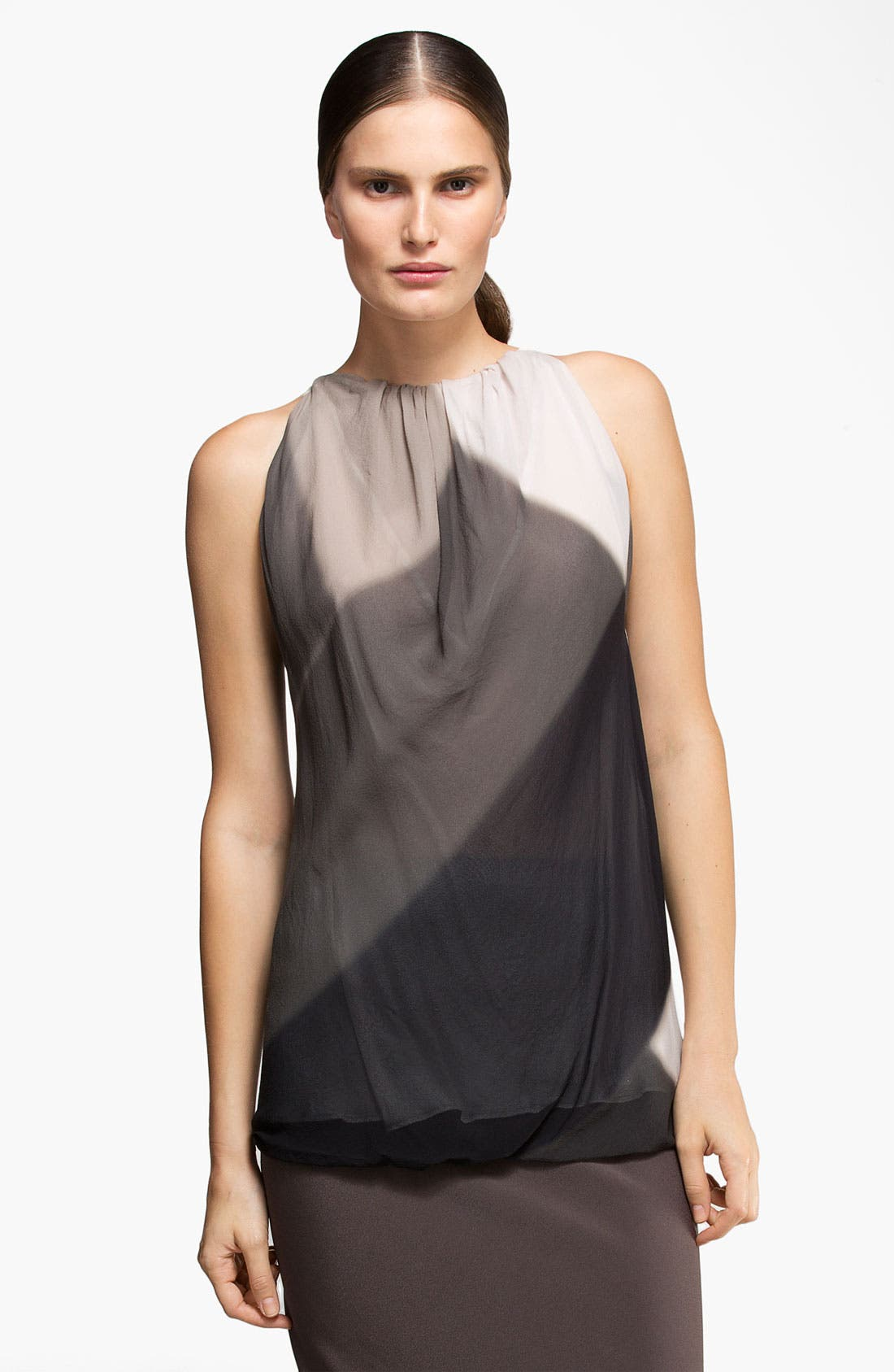 Main Image - Rick Owens Print Silk Georgette Tunic