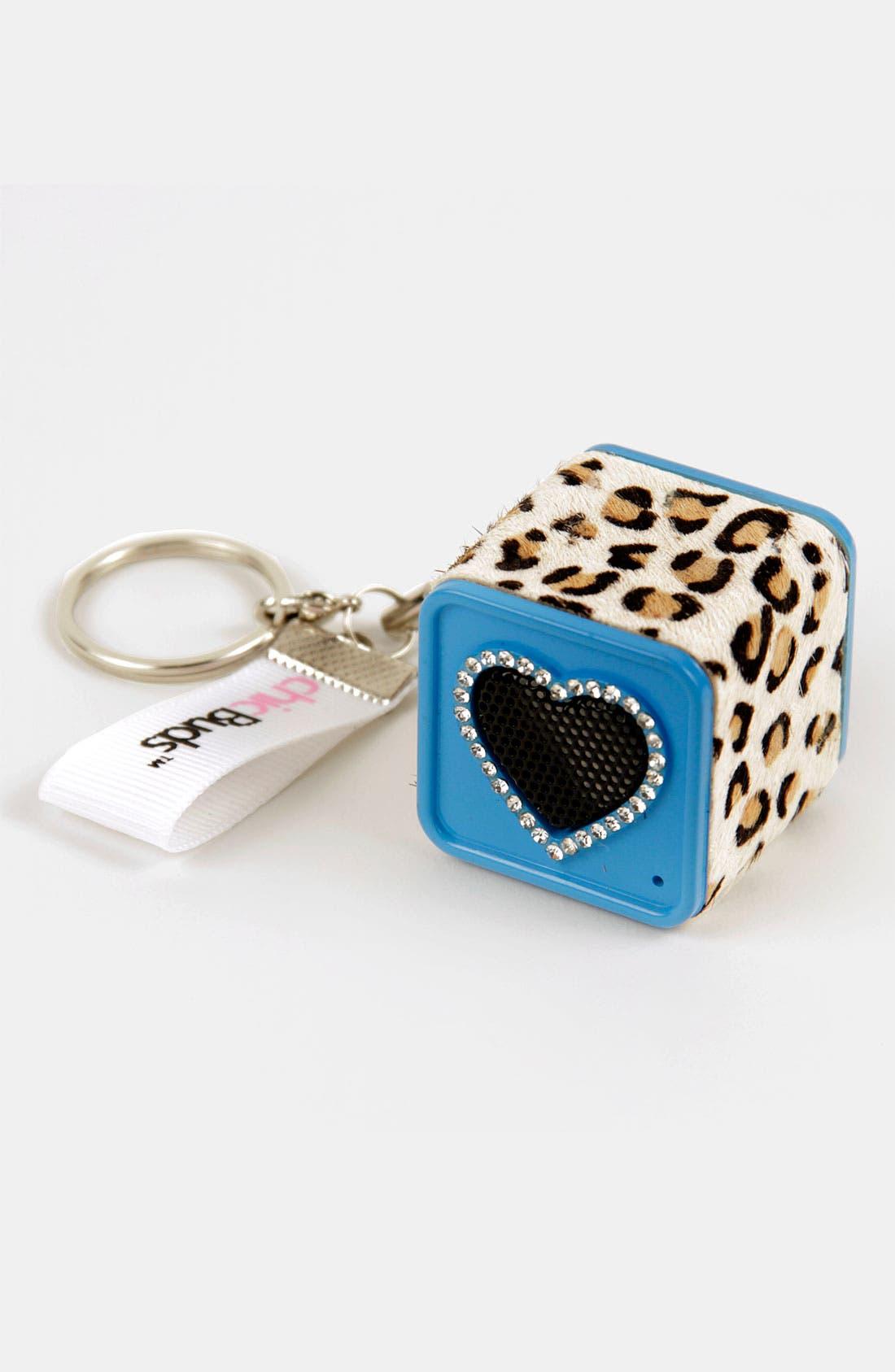 Alternate Image 1 Selected - chicBuds 'Leopard' Speaker Keychain