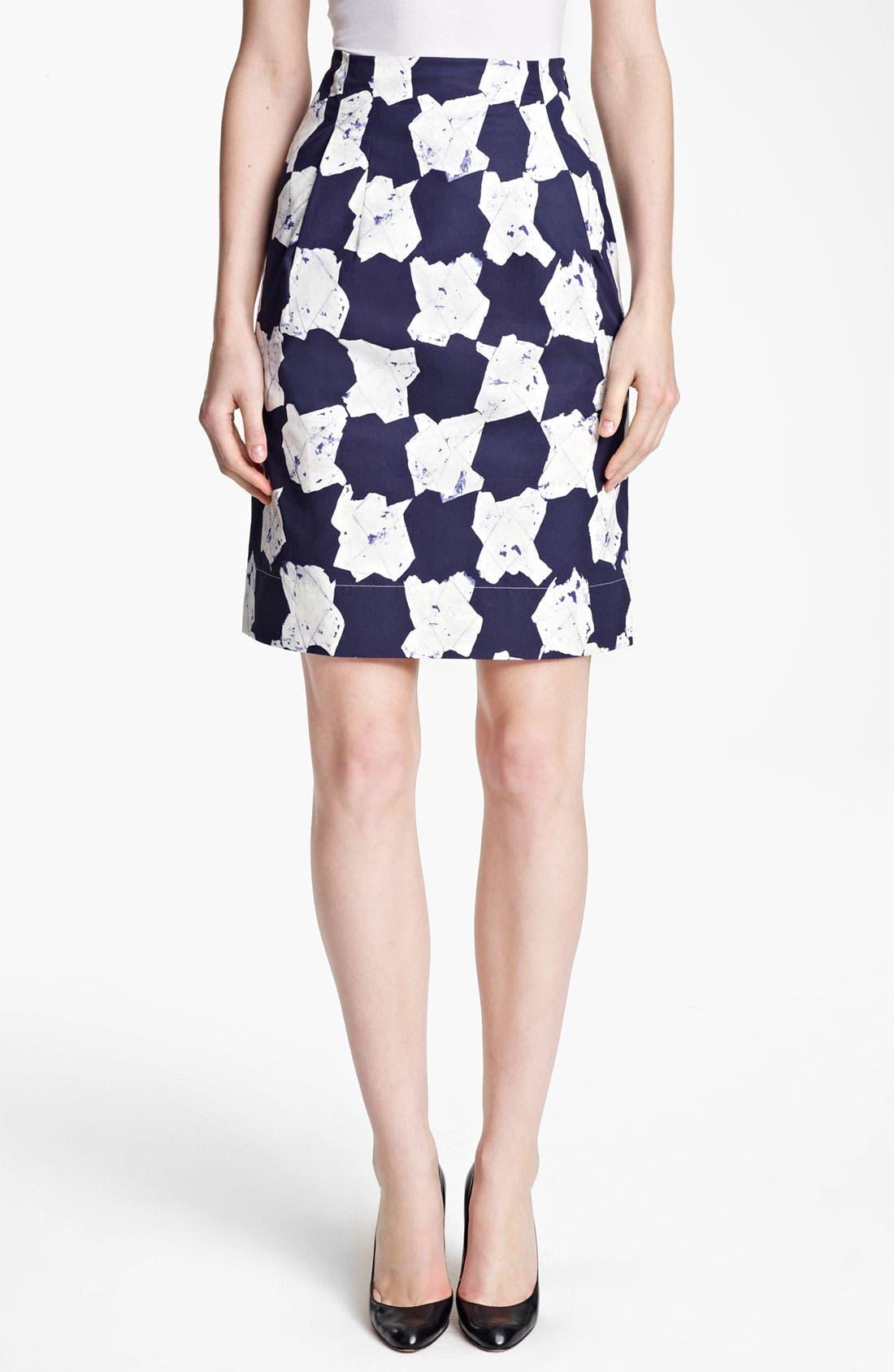 Main Image - Jil Sander Print Cotton Taffeta Skirt