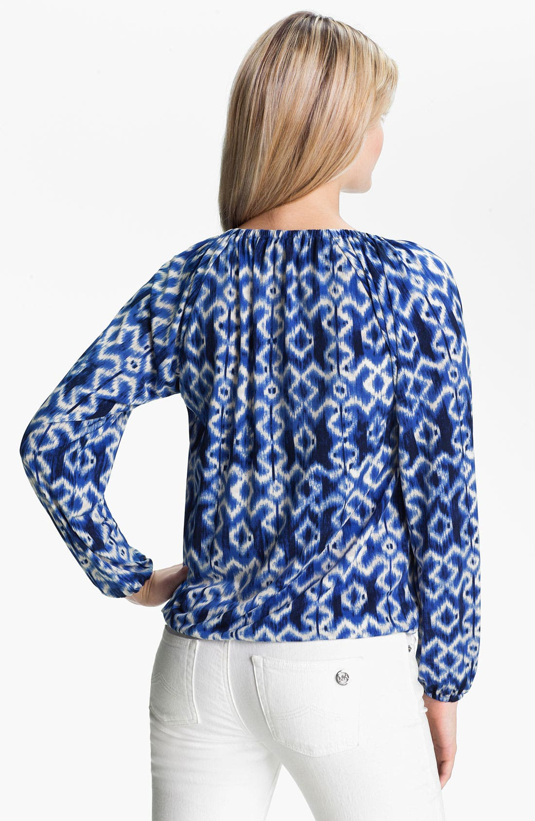 Alternate Image 2  - MICHAEL Michael Kors Print Blouson Peasant Top