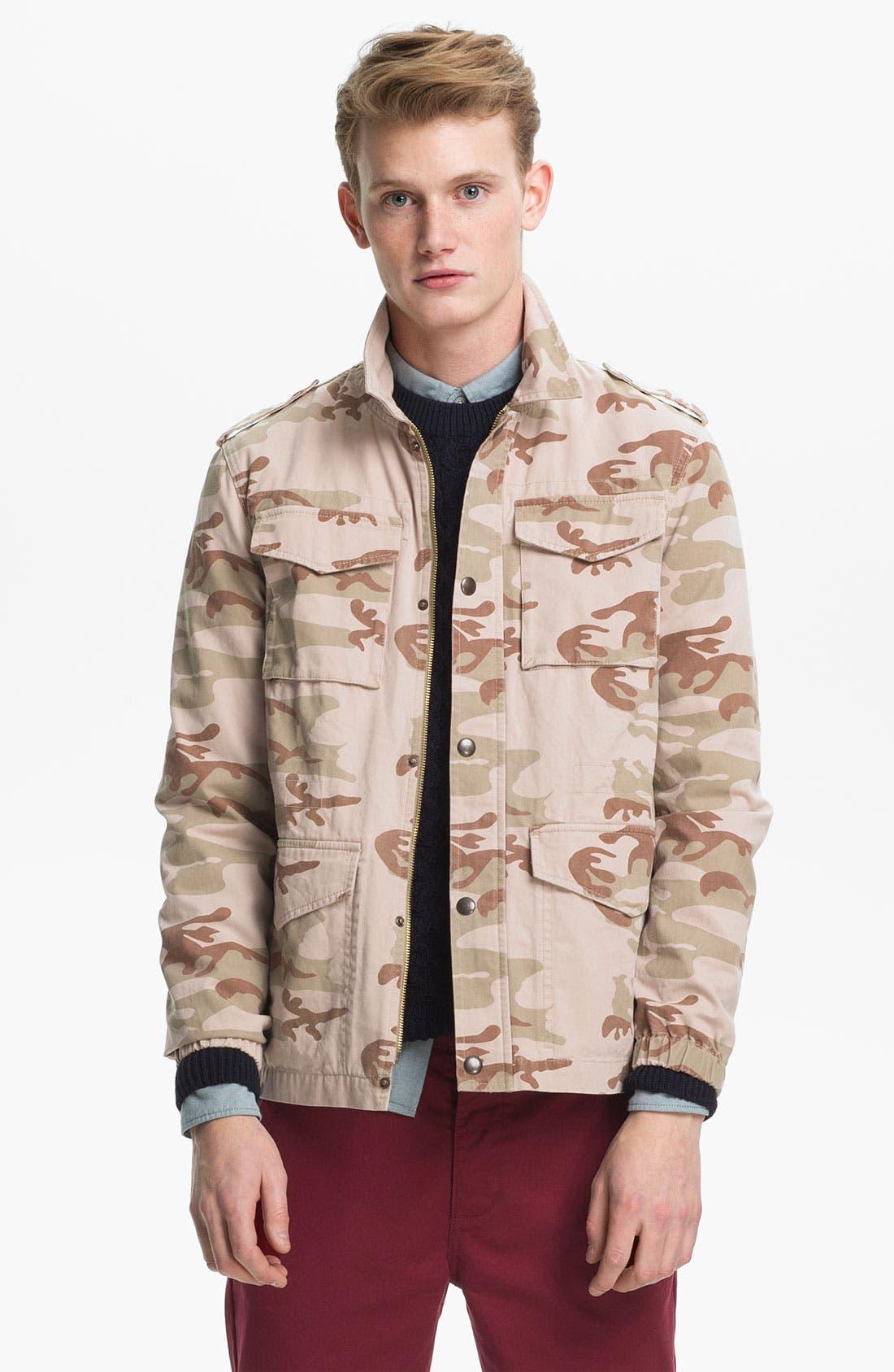 Alternate Image 1 Selected - Topman Camo Field Jacket