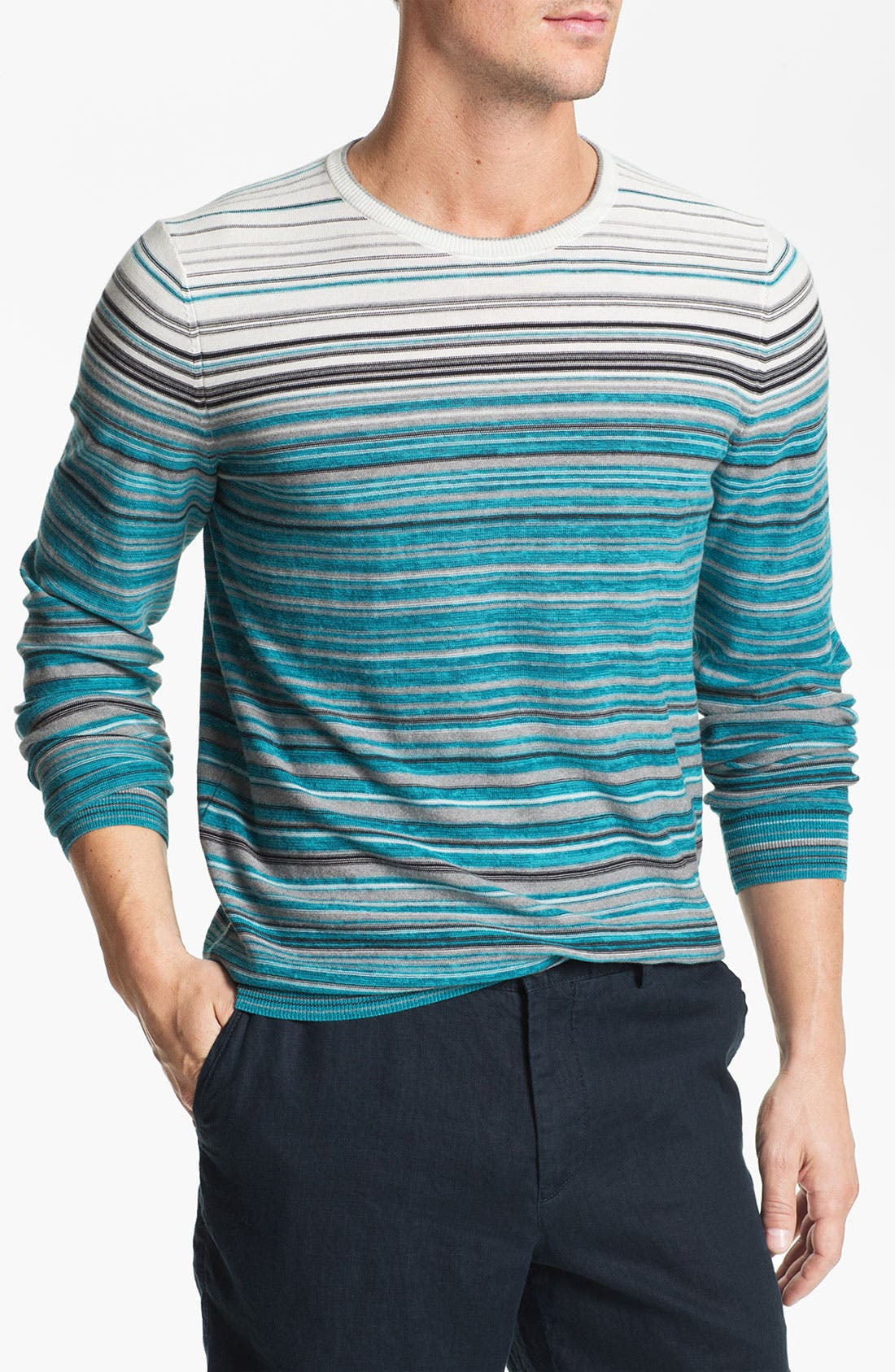 Main Image - BOSS Black 'Gunar' Crewneck Sweater