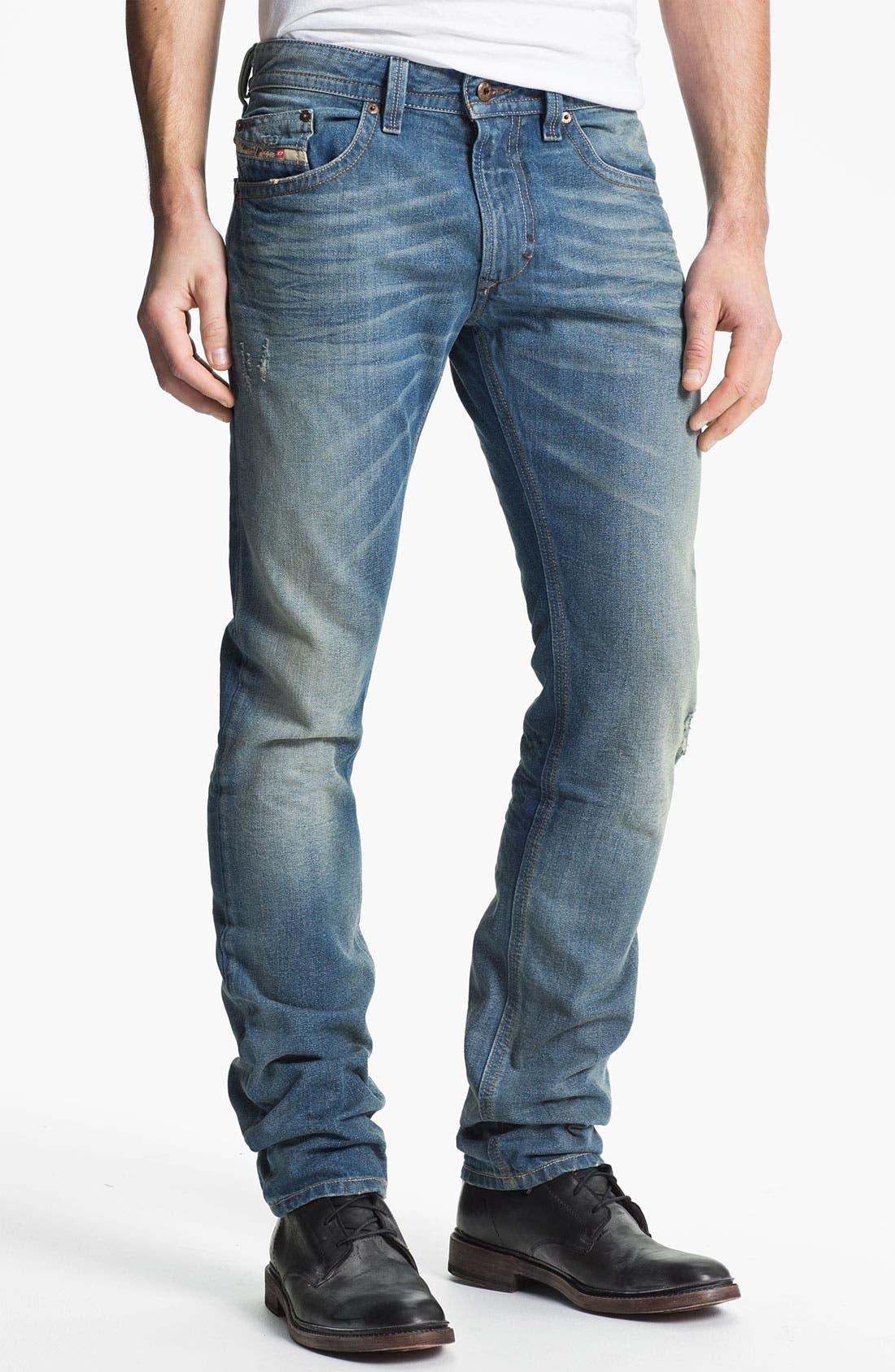Alternate Image 2  - DIESEL® 'Thavar' Slim Straight Leg Jeans (0806P)