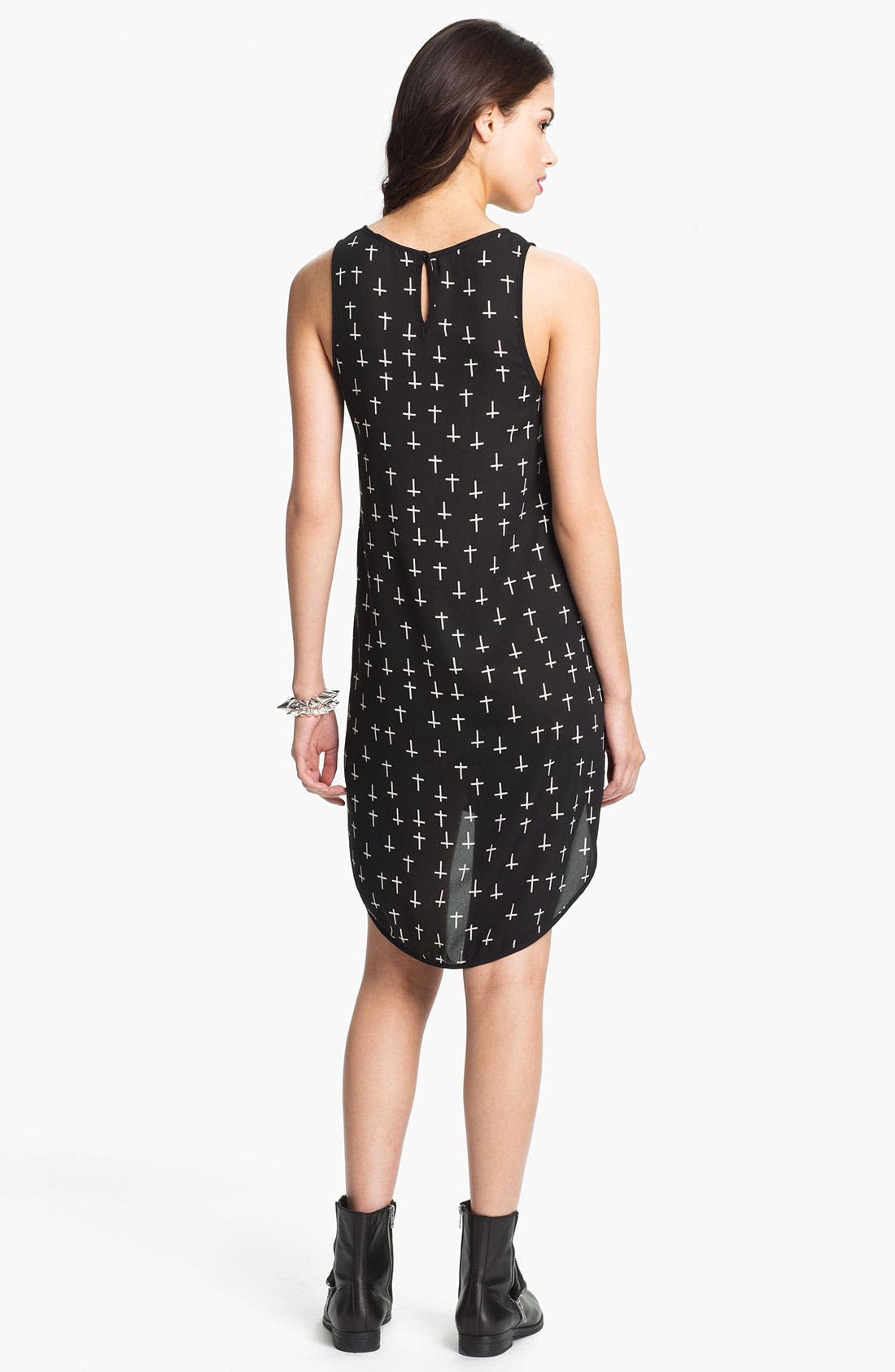 Alternate Image 2  - Print High/Low Tank Dress