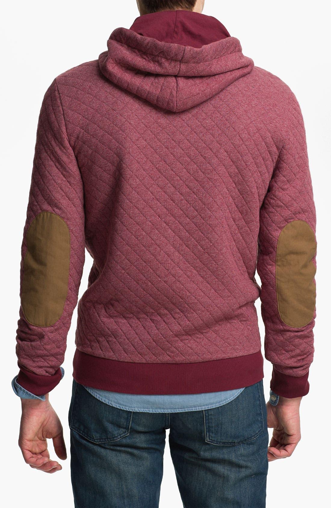 Alternate Image 2  - Topman Quilted Zip Hoodie